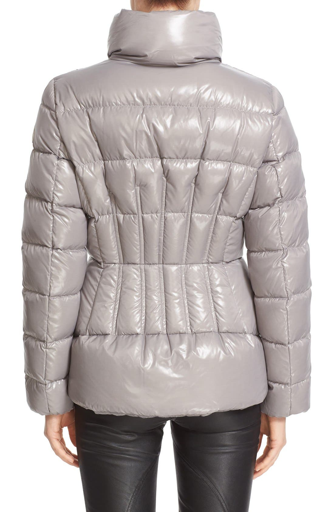 'Daphne' Water Resistant Short Shiny Nylon Jacket,                             Alternate thumbnail 4, color,                             024