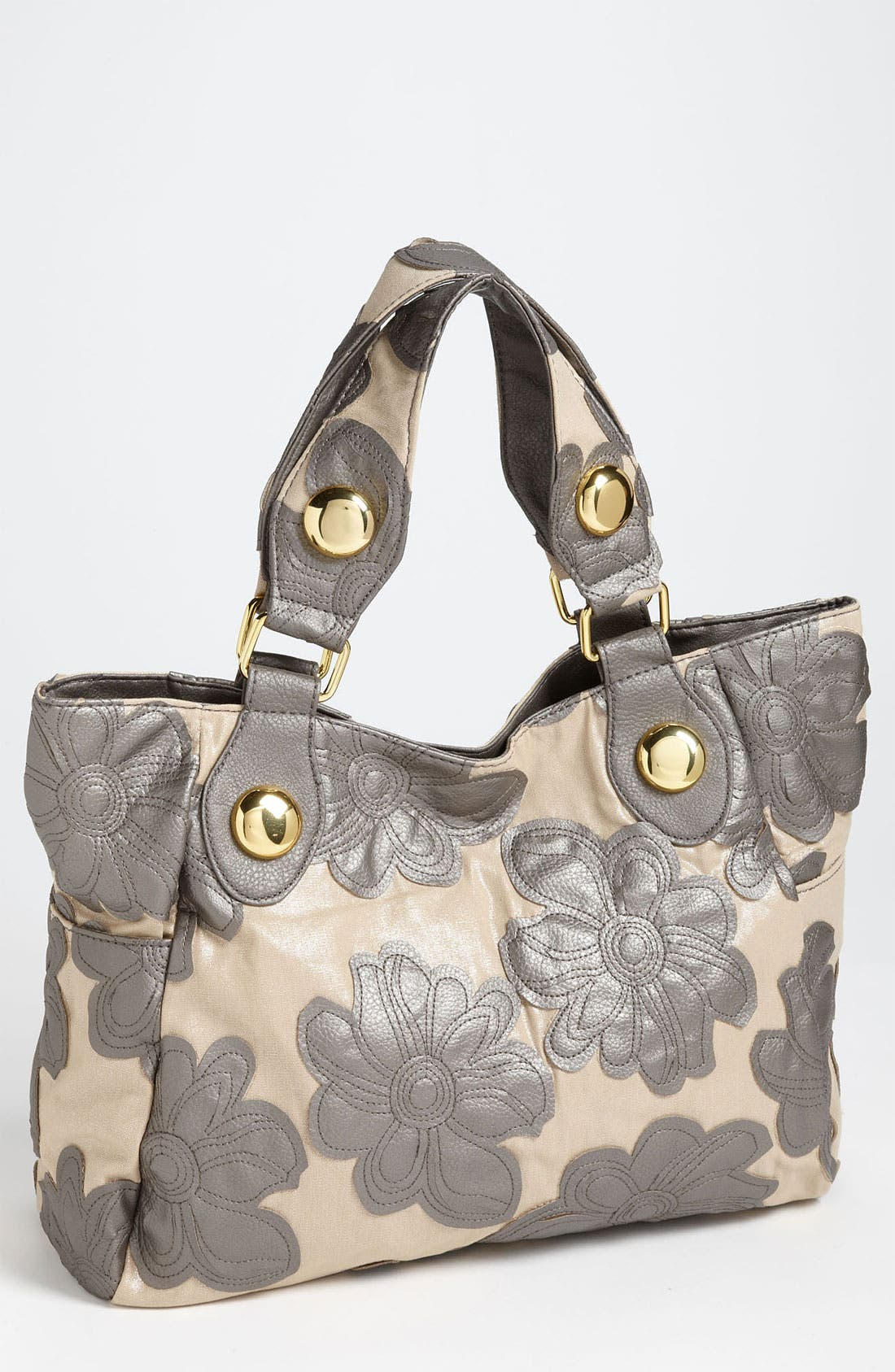 BIG BUDDHA 'Hibiscus' Floral Tote, Main, color, 020