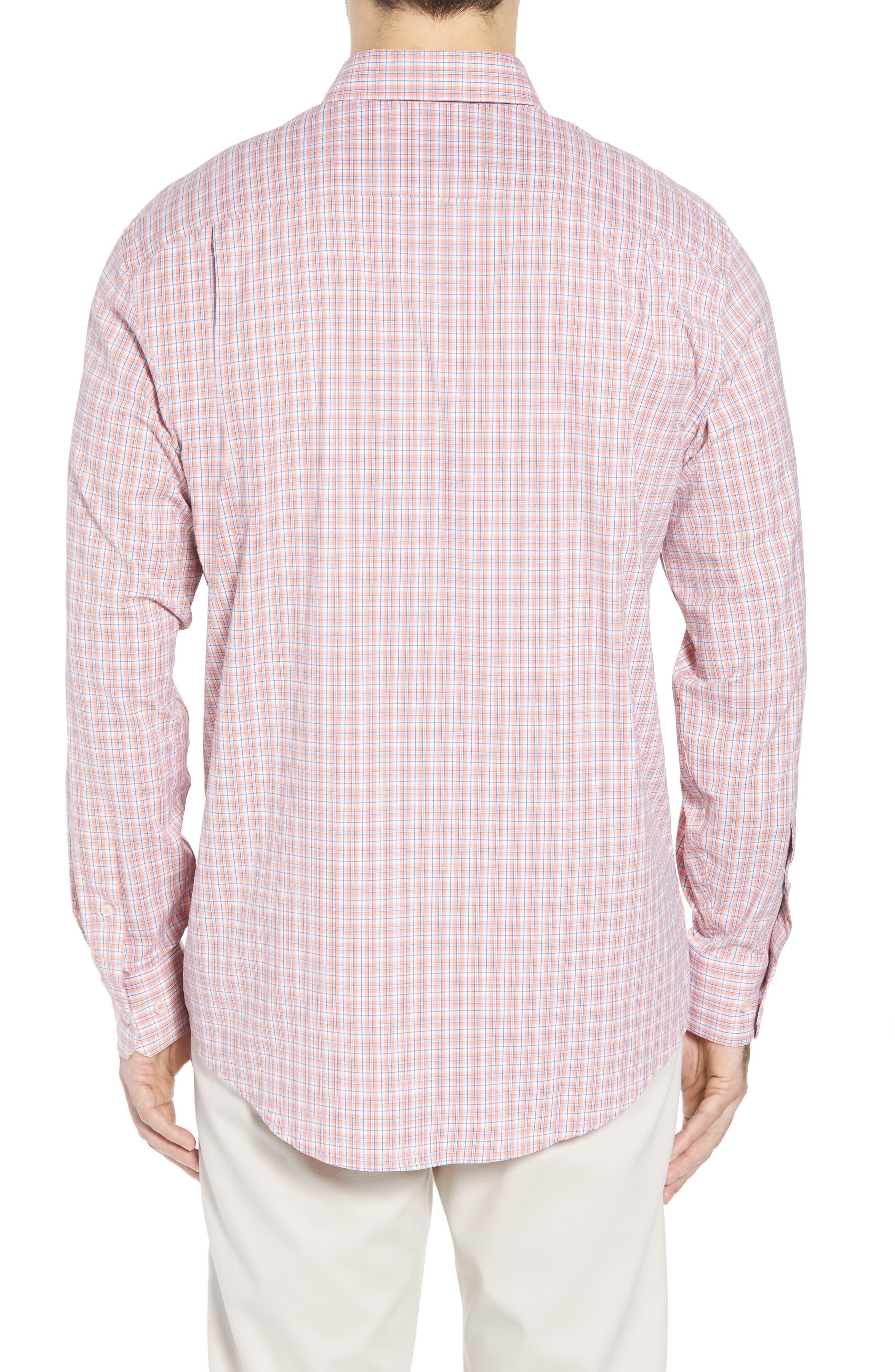 Grand Turk Regular Fit Stretch Plaid Sport Shirt,                             Alternate thumbnail 2, color,