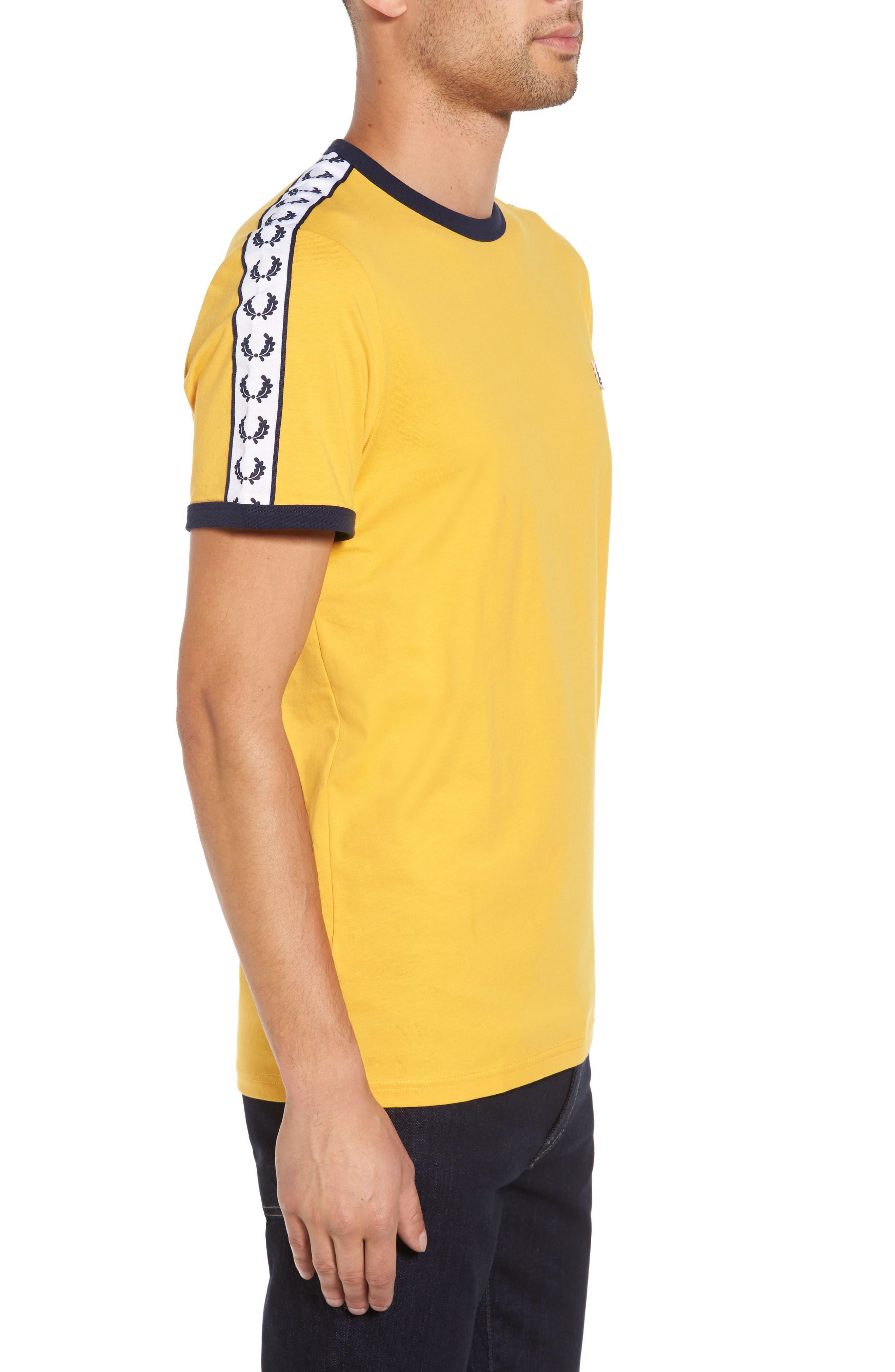 Extra Trim Fit Cotton Ringer T-Shirt,                             Alternate thumbnail 16, color,