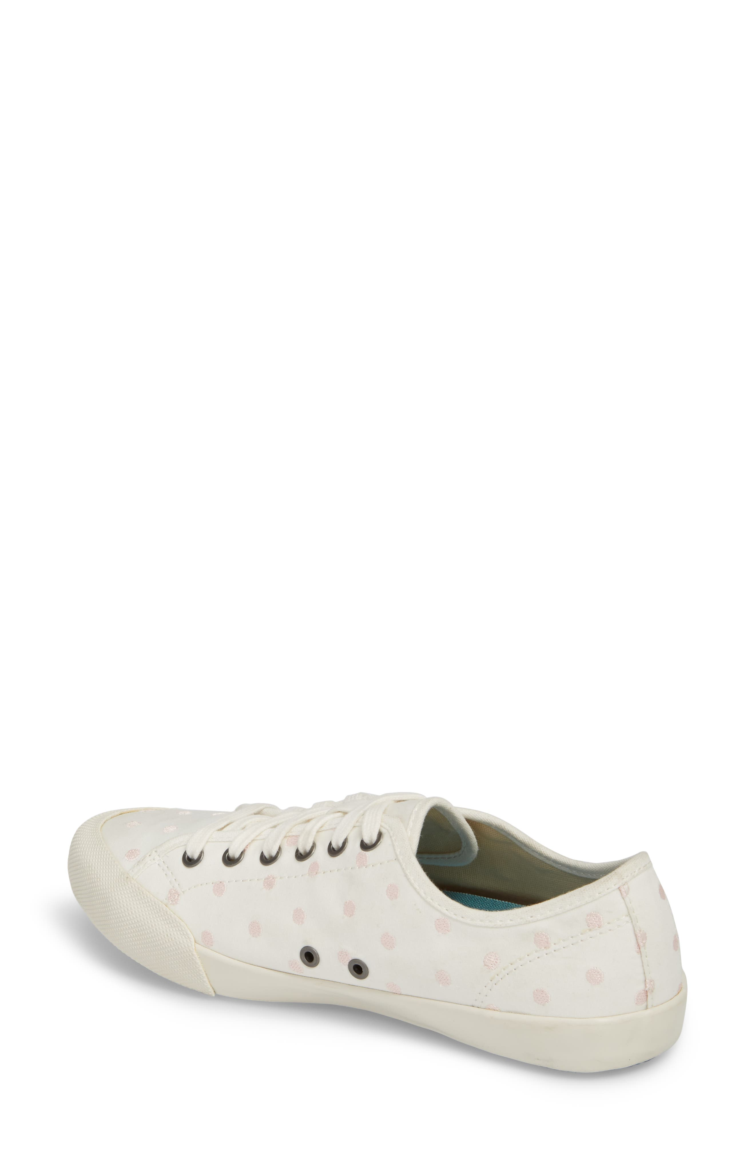 Monterey Embroidered Low Top Sneaker,                             Alternate thumbnail 2, color,                             PEARL