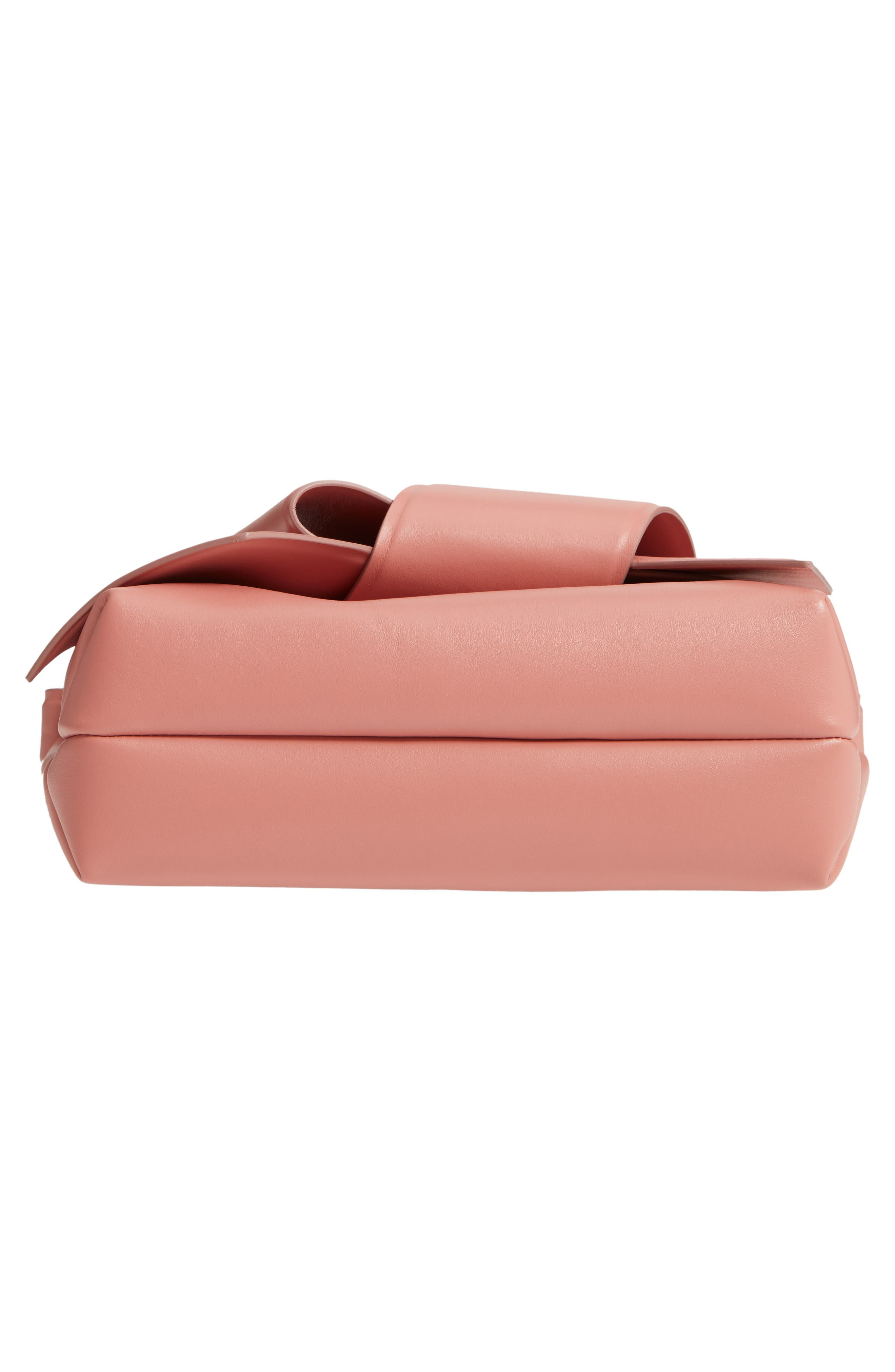 Musubi Knot Leather Handbag,                             Alternate thumbnail 6, color,                             PINK