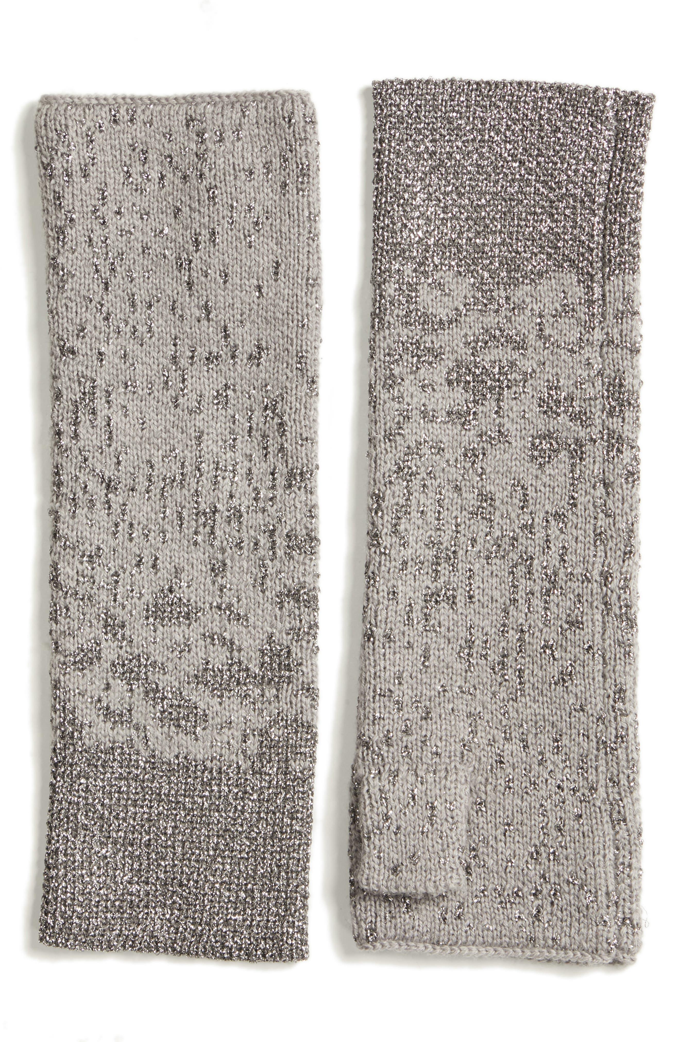 Metallic Fingerless Gloves,                         Main,                         color, 087