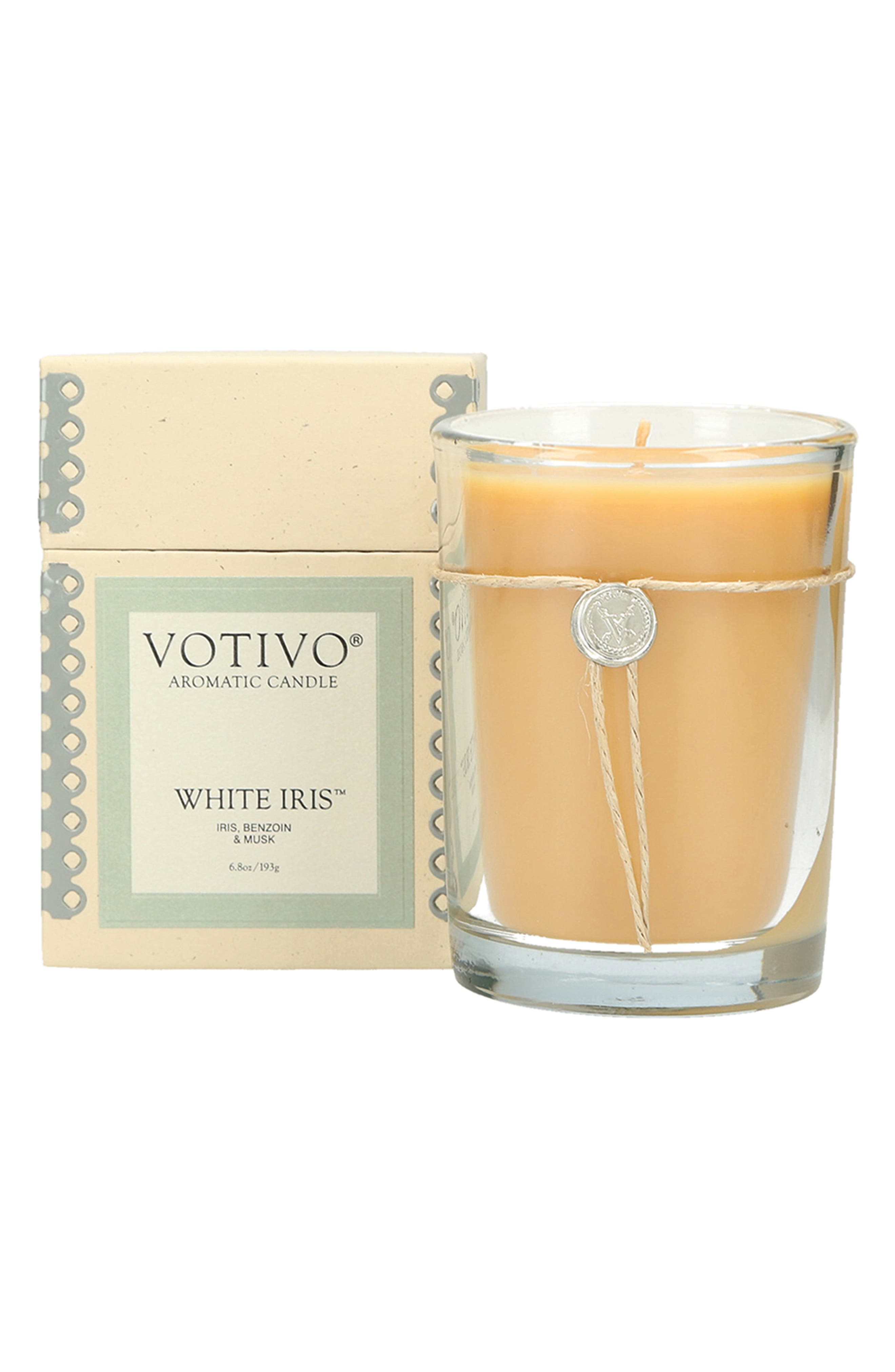 Aromatic Candle,                             Main thumbnail 1, color,                             WHITE IRIS