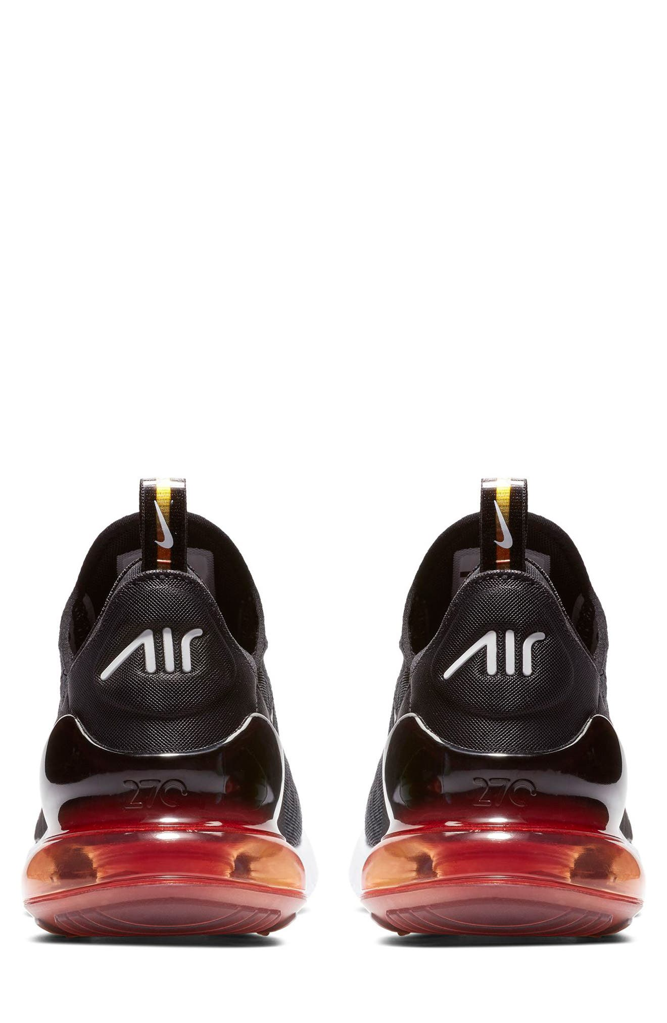 NIKE,                             Air Max 270 SE Sneaker,                             Alternate thumbnail 2, color,                             BLACK/ ORANGE/ EMBER GLOW
