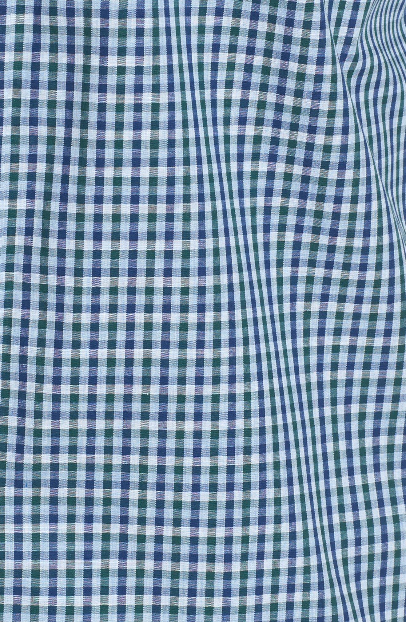 Regular Fit Non-Iron Mini Check Sport Shirt,                             Alternate thumbnail 5, color,                             310