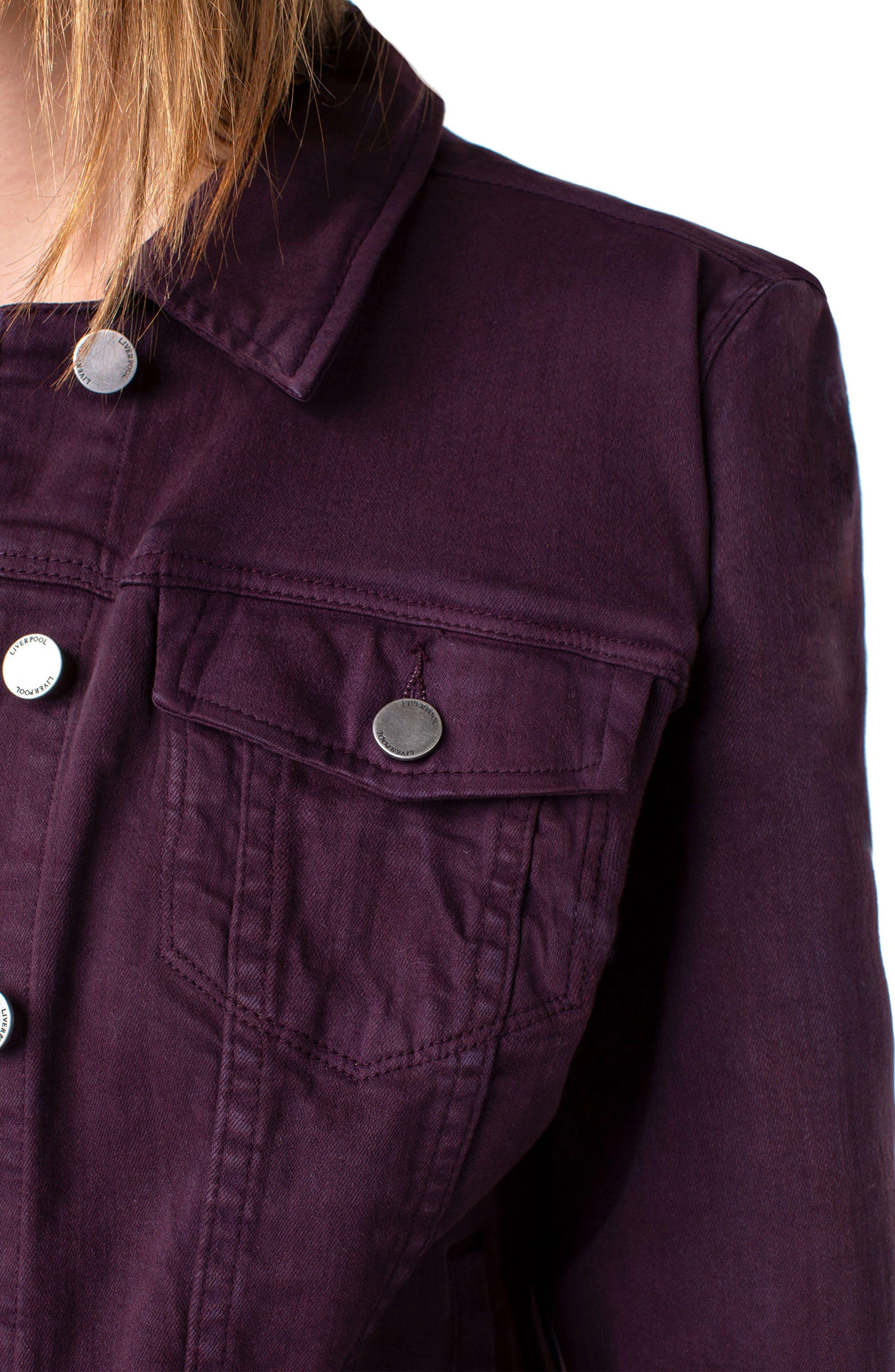 Denim Jacket,                             Alternate thumbnail 4, color,                             RICH VELVET