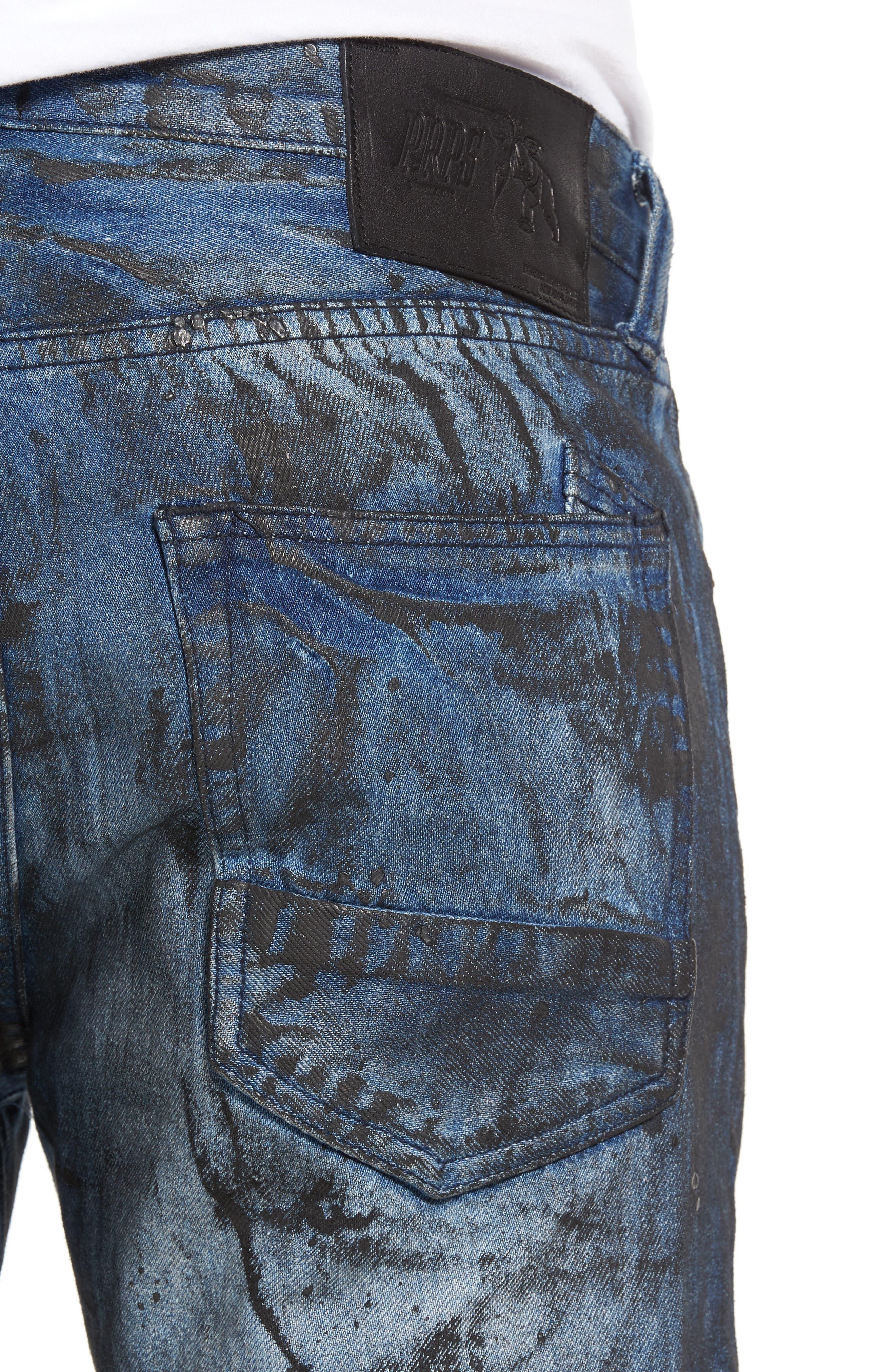PRPS,                             Demon Slim Straight Leg Jeans,                             Alternate thumbnail 4, color,                             400