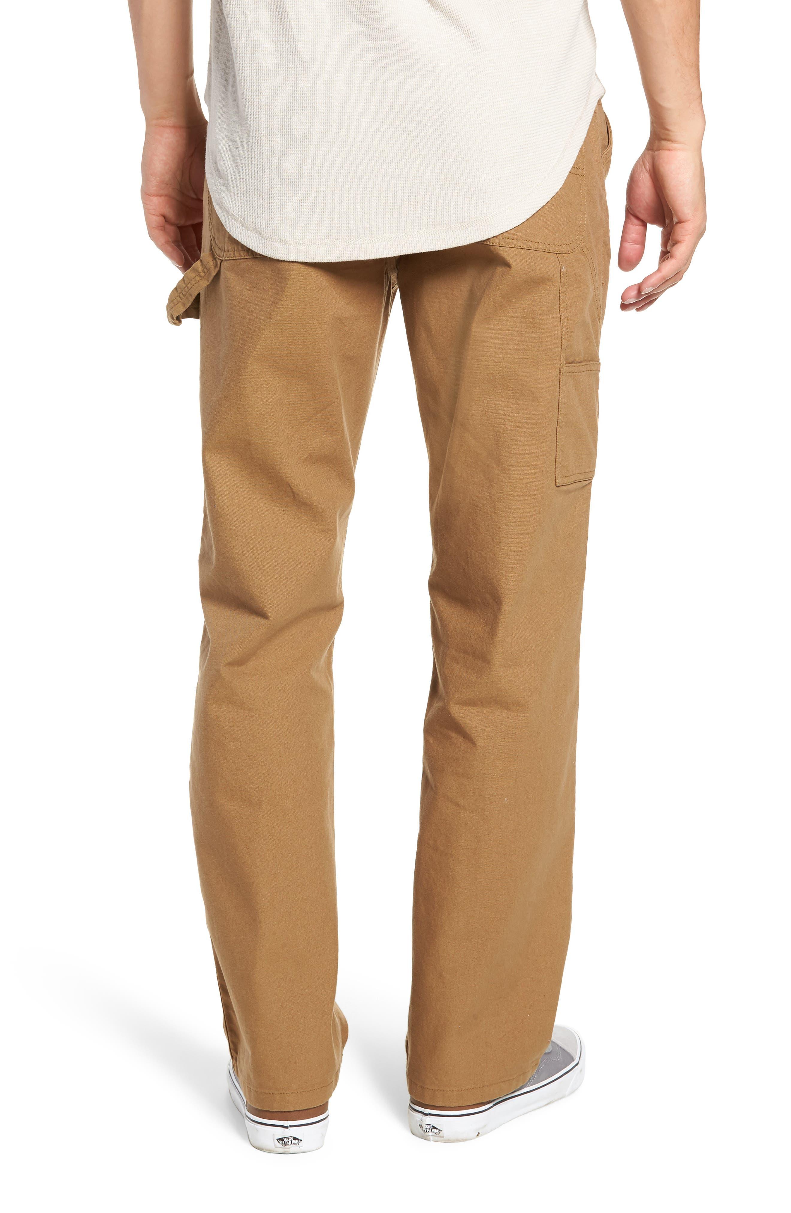 Hardware Straight Fit Carpenter Pants,                             Alternate thumbnail 2, color,                             DIRT