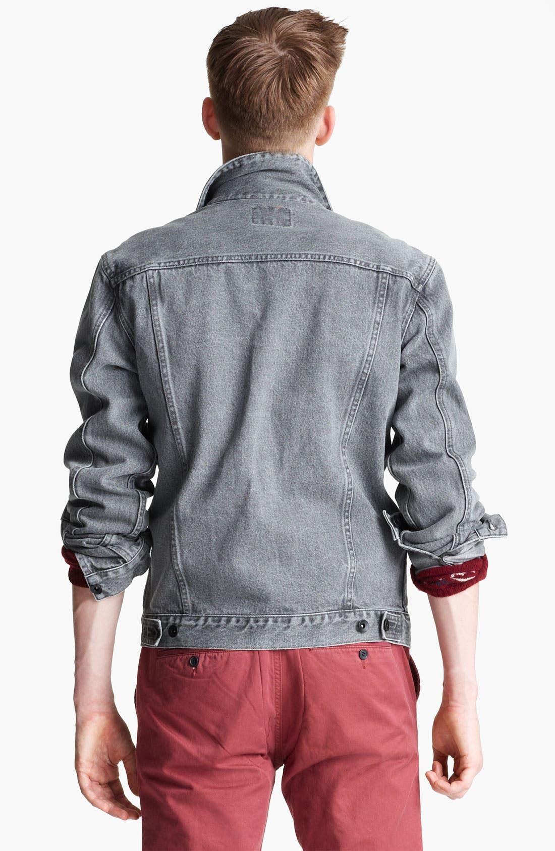 'Dyder' Denim Jacket,                             Alternate thumbnail 4, color,