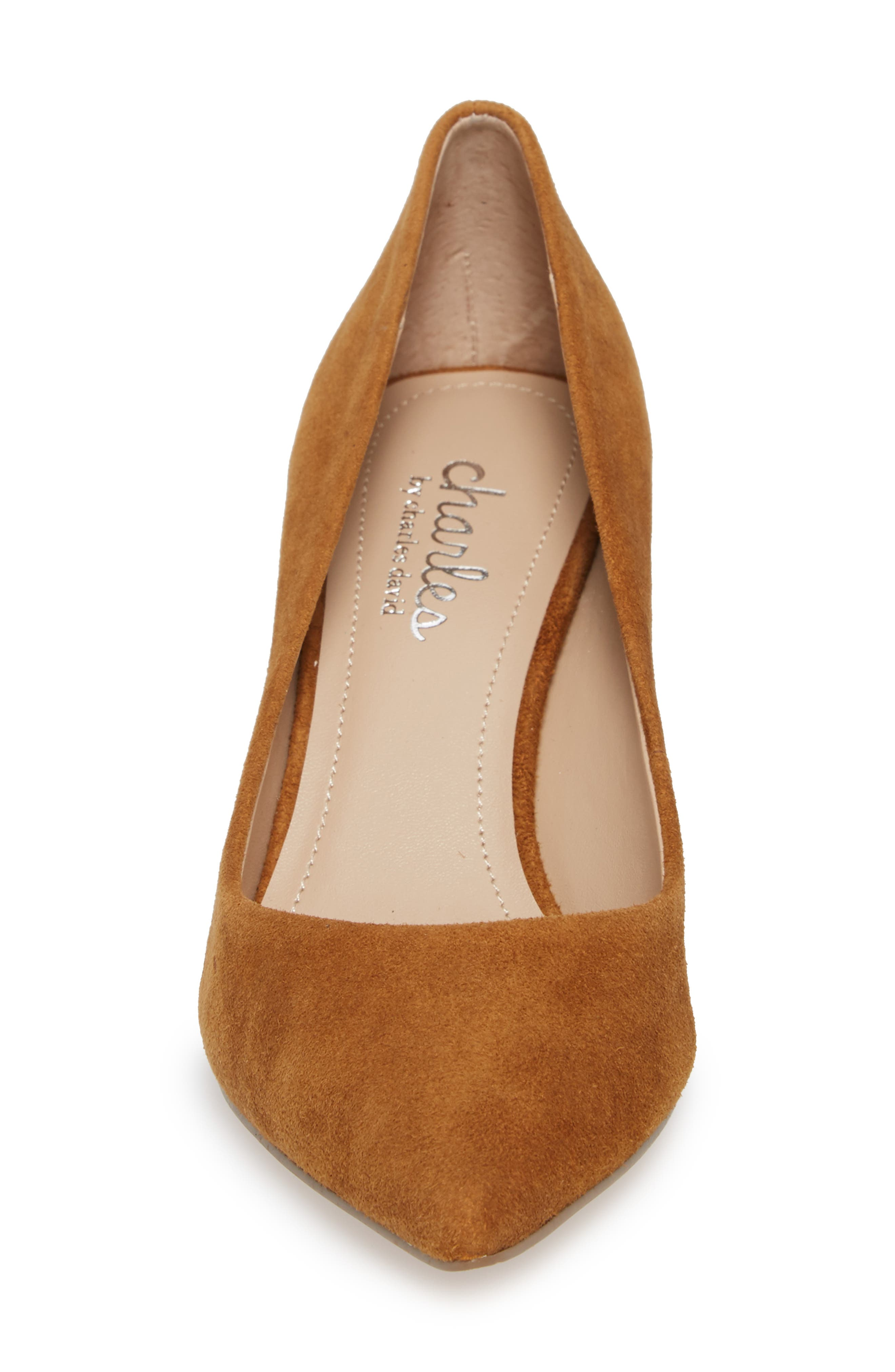 Addie Pump,                             Alternate thumbnail 4, color,                             AMBER SUEDE