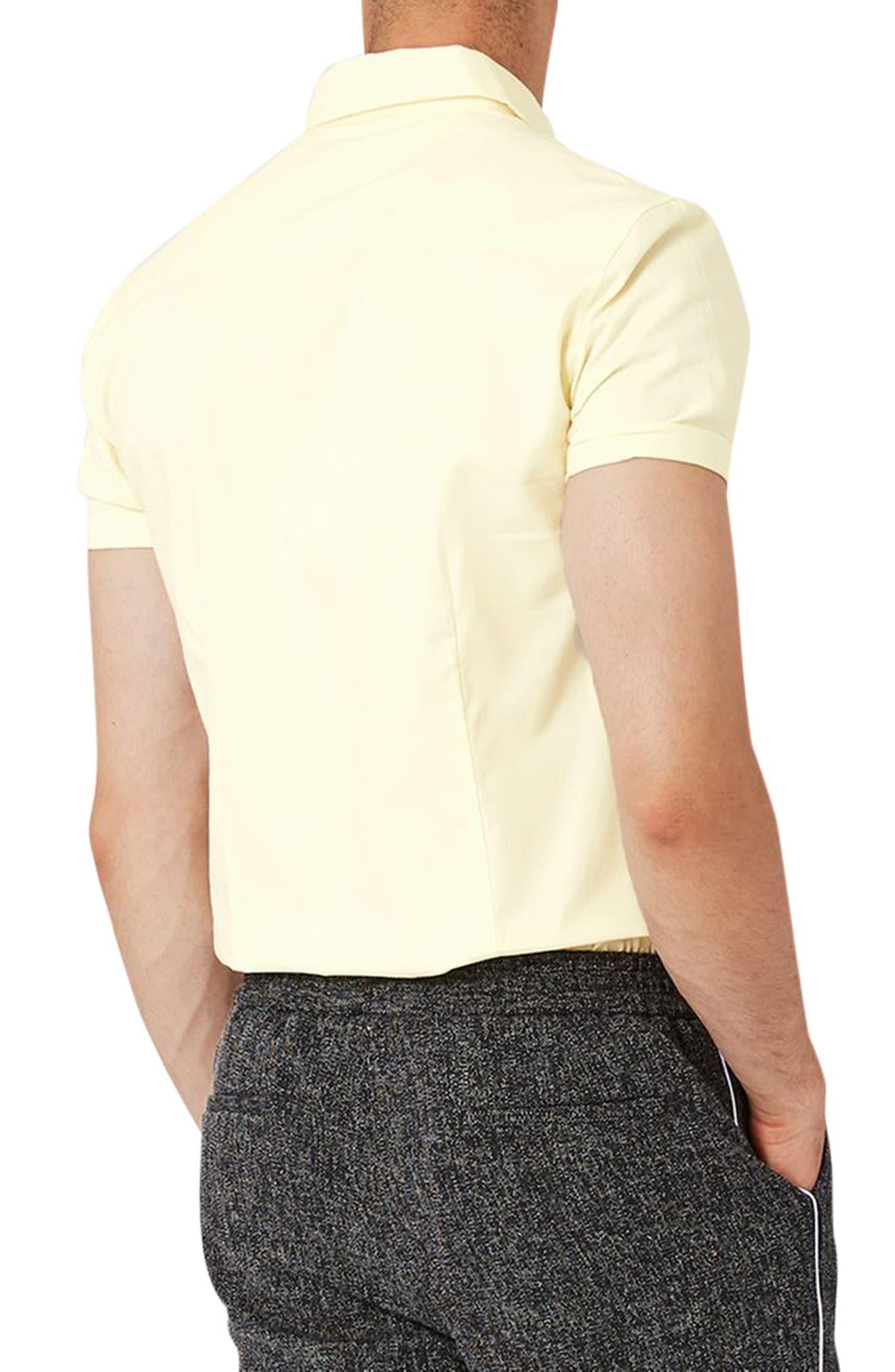 Slim Fit Stretch Oxford Shirt,                             Alternate thumbnail 4, color,