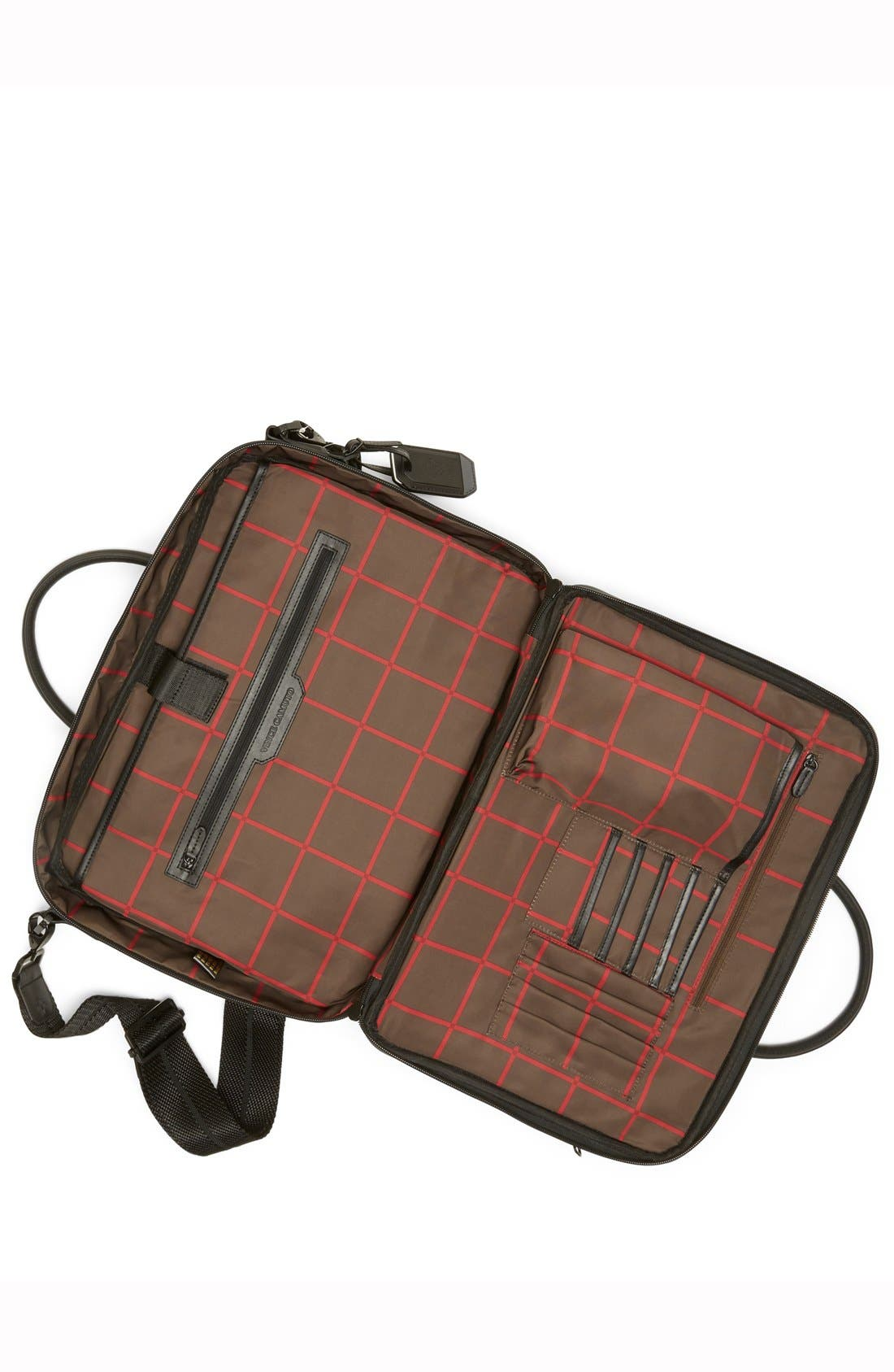 Turin Leather Briefcase,                             Alternate thumbnail 4, color,                             001