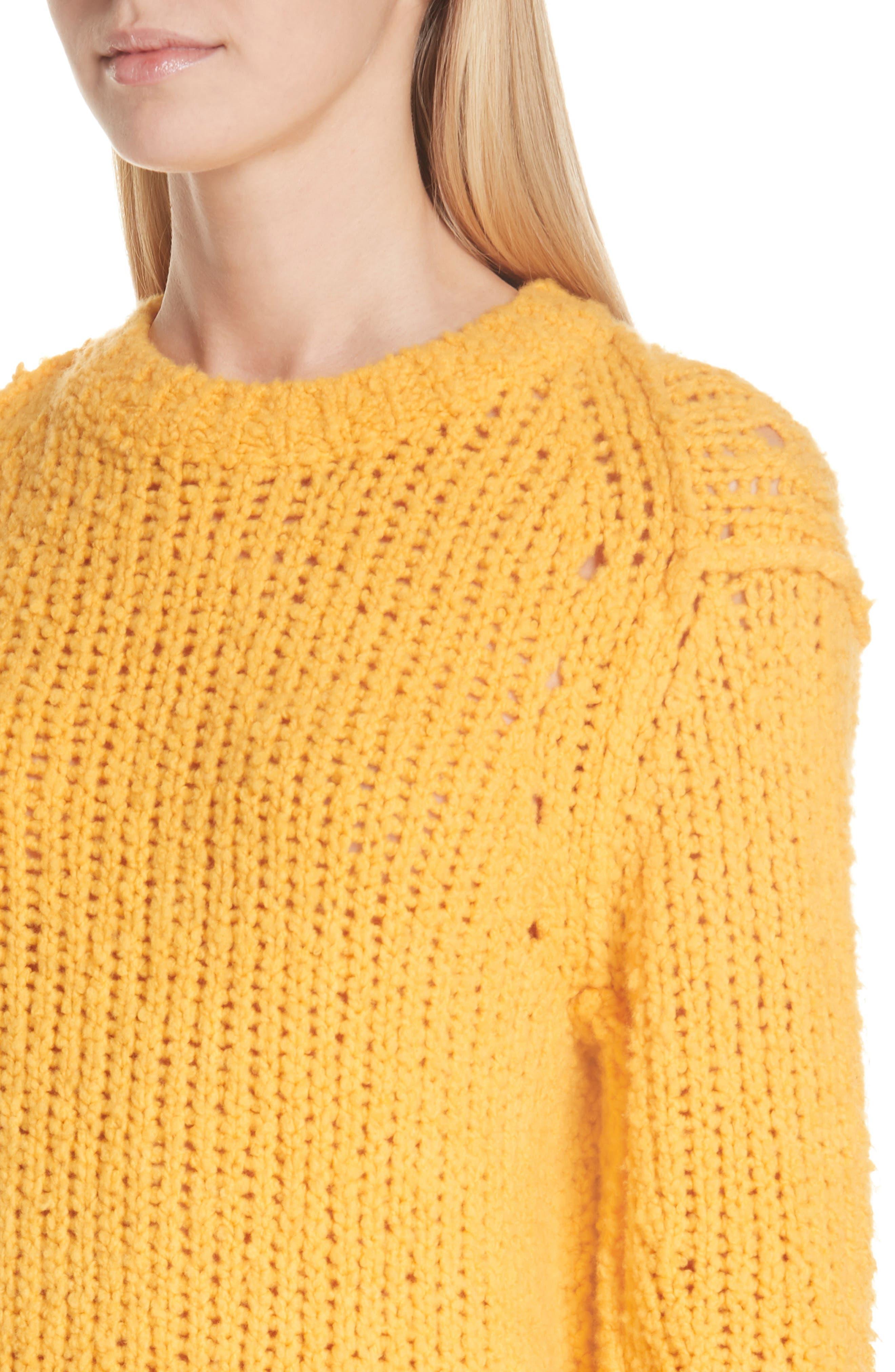 Arizona Merino Wool Sweater,                             Alternate thumbnail 4, color,                             GOLD