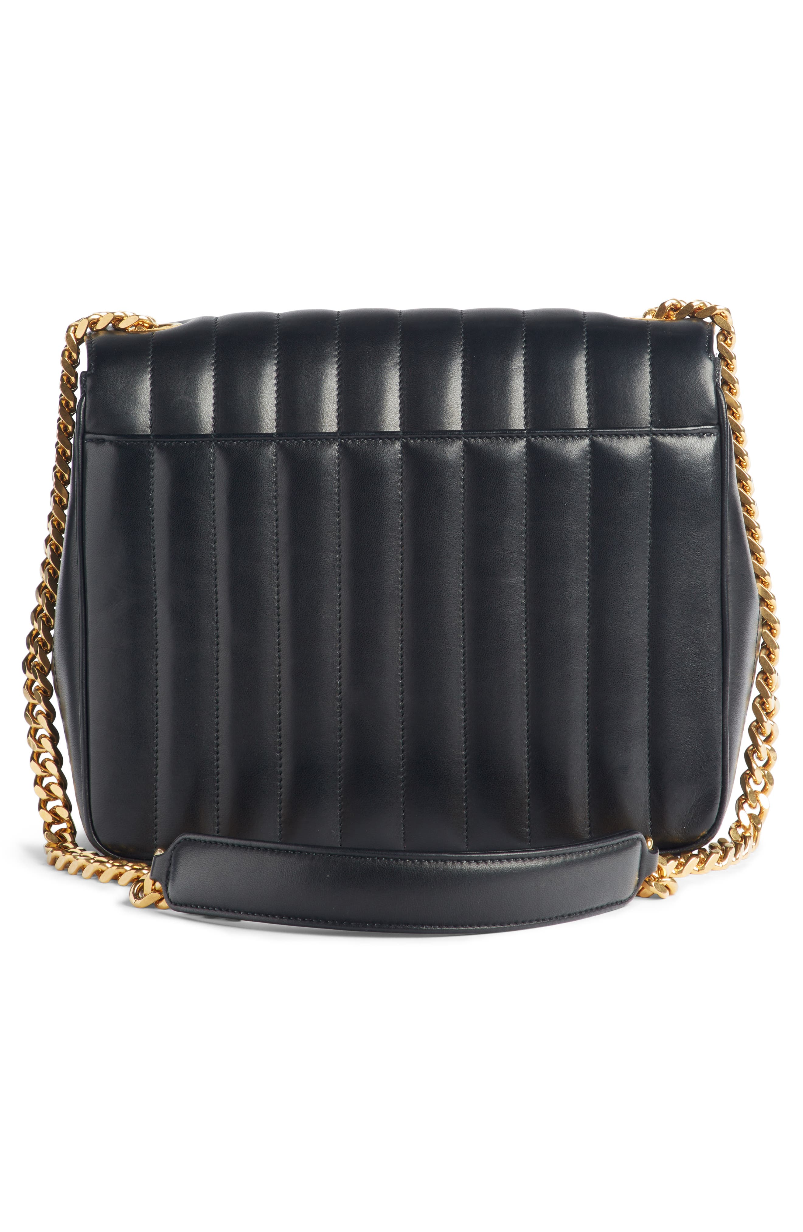 Large Vicky Leather Crossbody Bag,                             Alternate thumbnail 3, color,                             NOIR