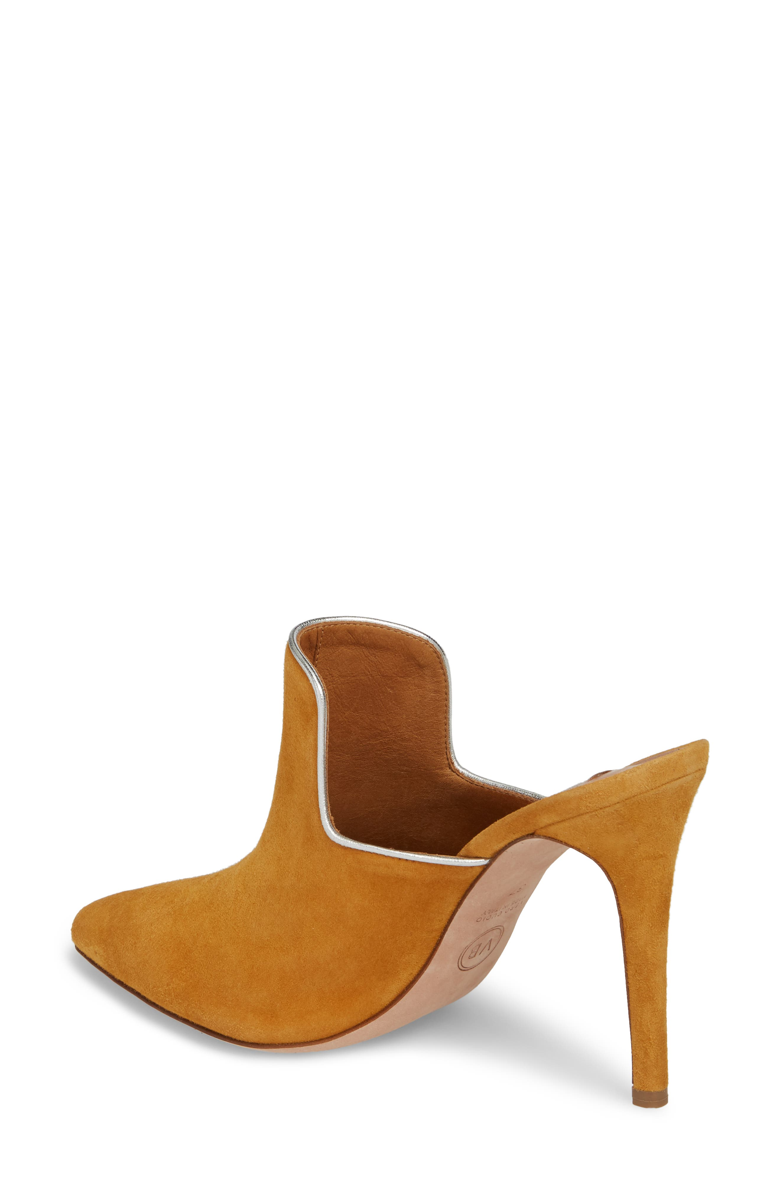 Penn Pointy Toe Mule,                             Alternate thumbnail 2, color,                             MARIGOLD/ SILVER