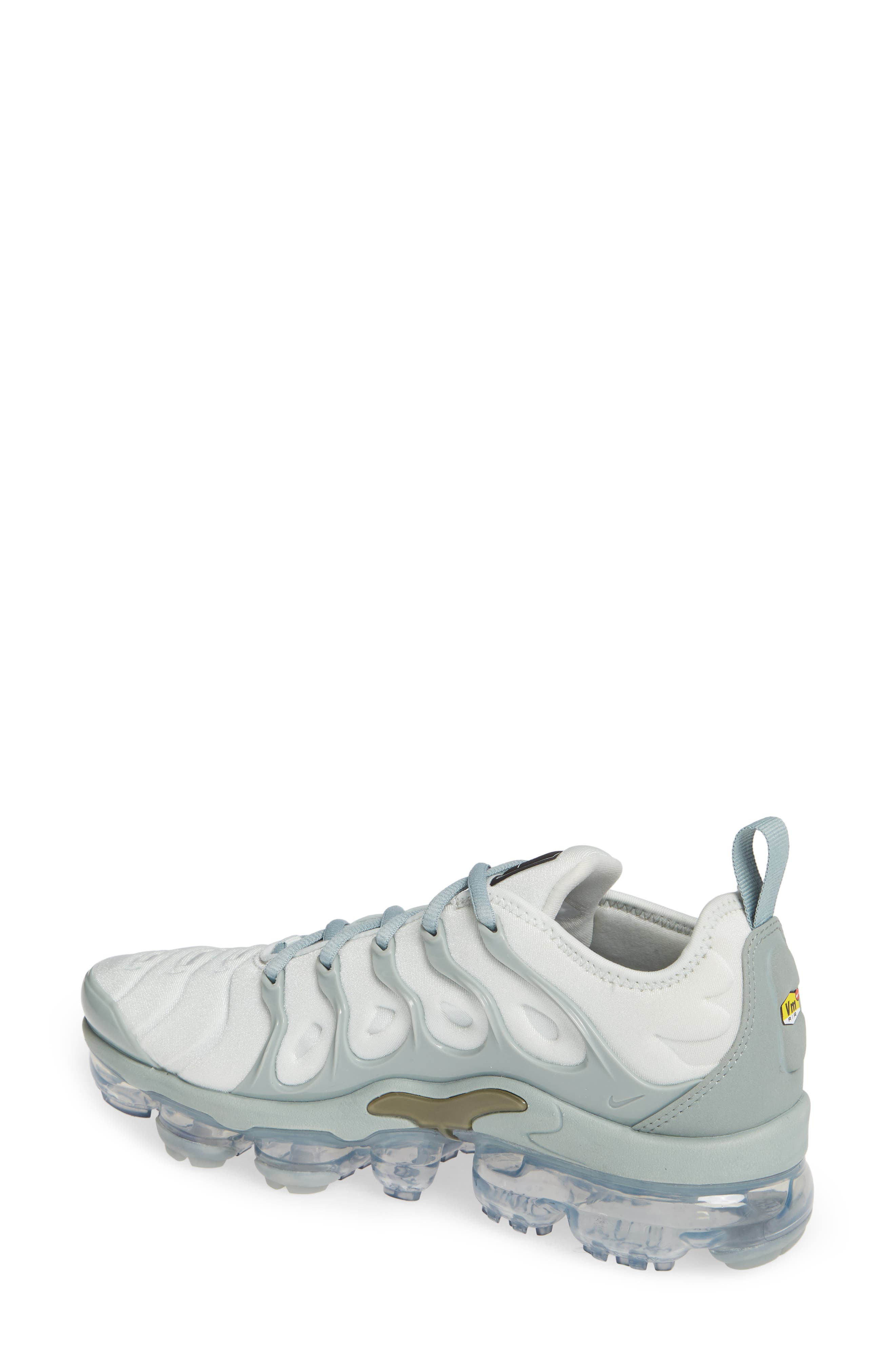 Air VaporMax Plus Sneaker,                             Alternate thumbnail 2, color,                             LIGHT SILVER/ OLIVE- GREEN