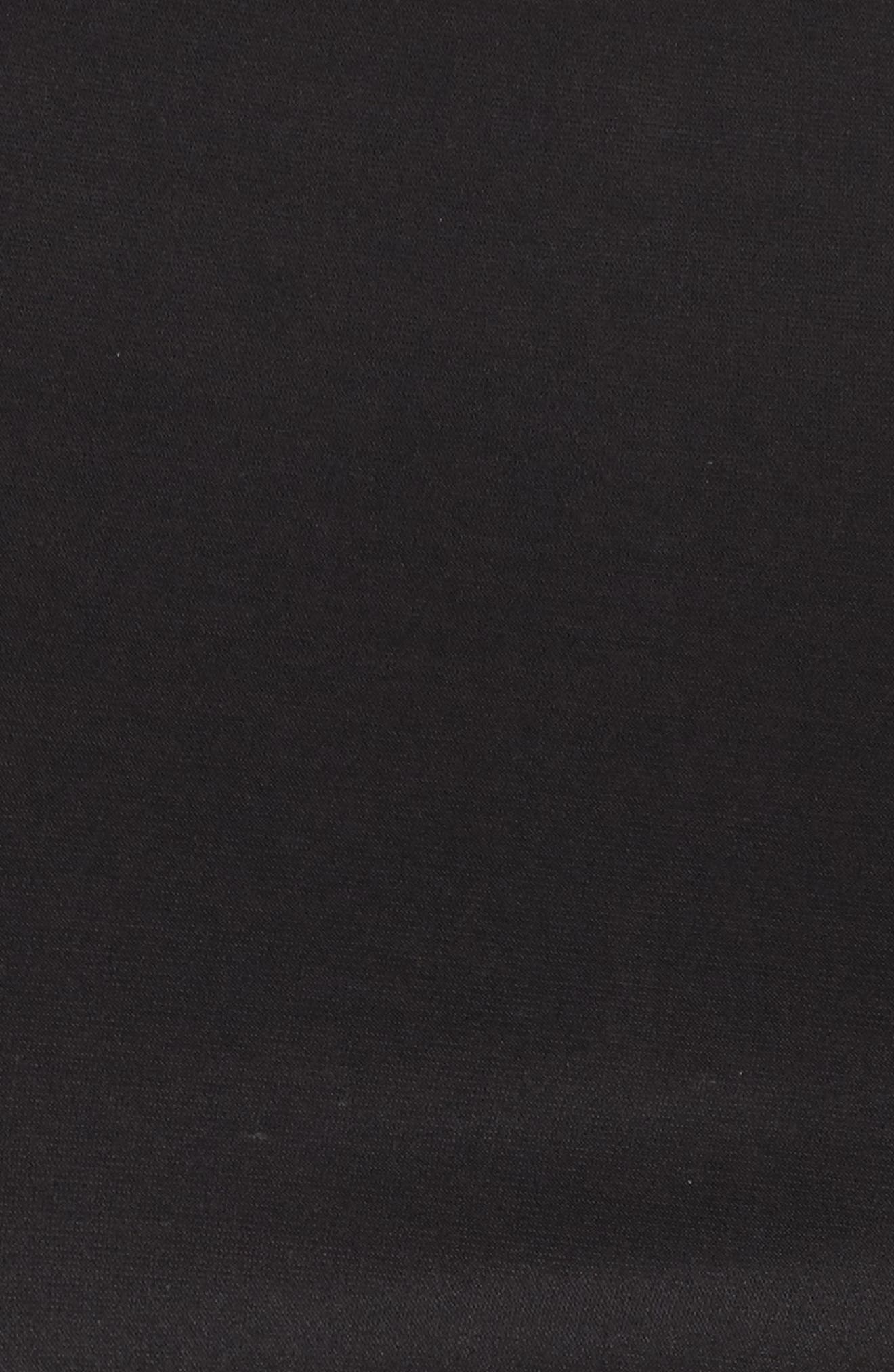 Illusion Yoke Bell Sleeve Sheath Dress,                             Alternate thumbnail 5, color,