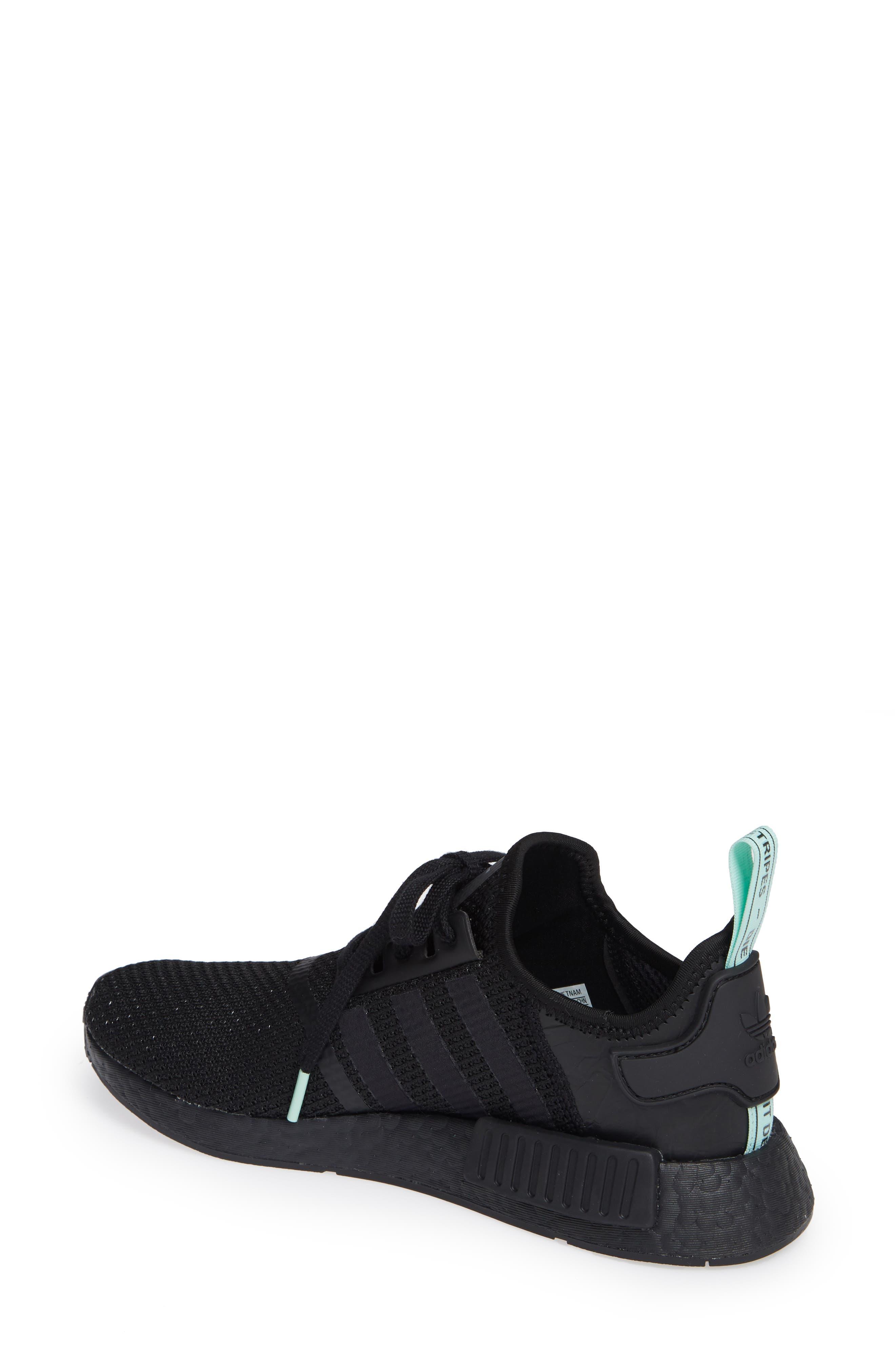 NMD R1 Athletic Shoe,                             Alternate thumbnail 2, color,                             BLACK/ BLACK/ CLEAR MINT