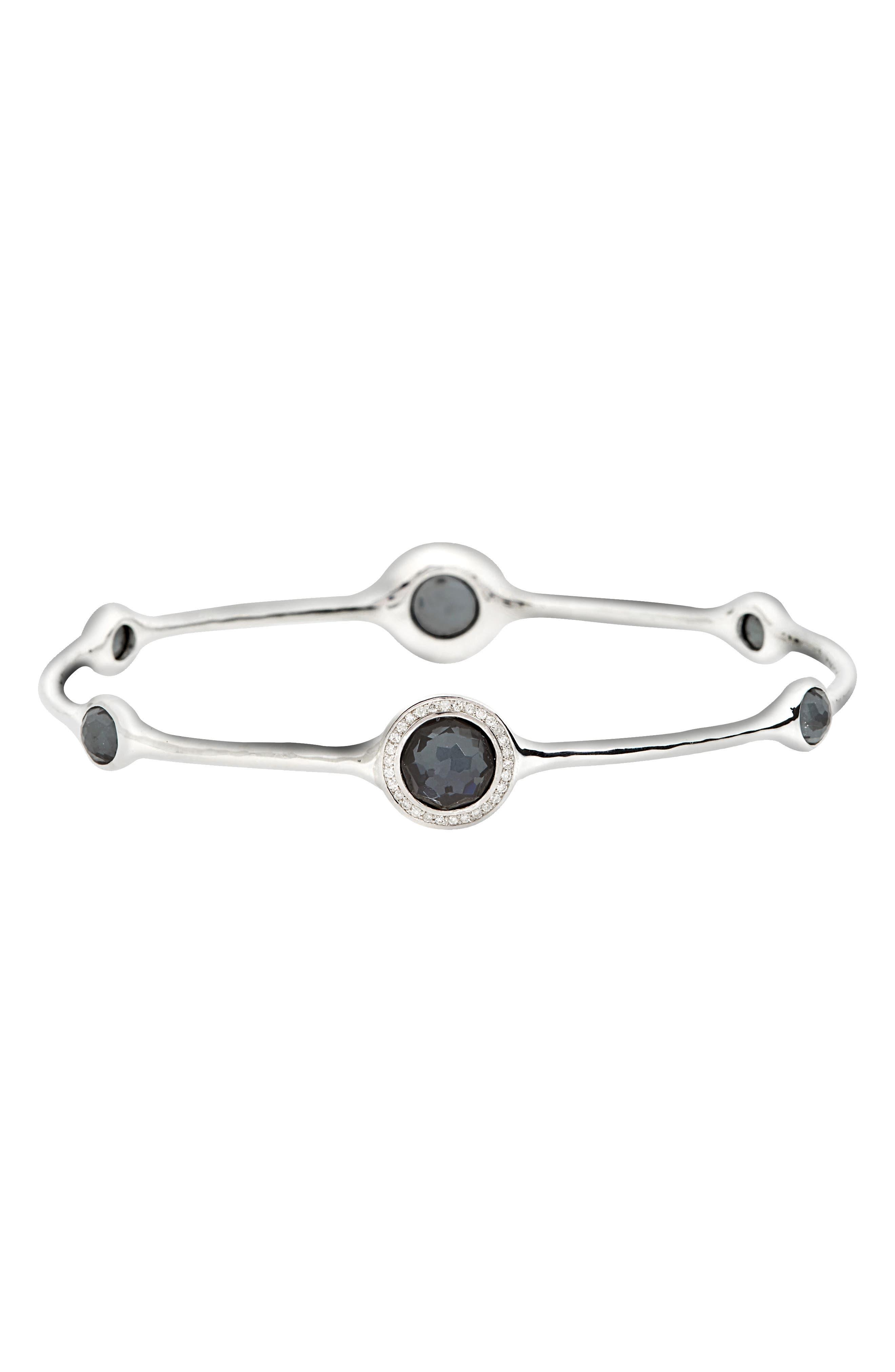 'Stella' 6-Stone & Diamond Bangle,                         Main,                         color, 042