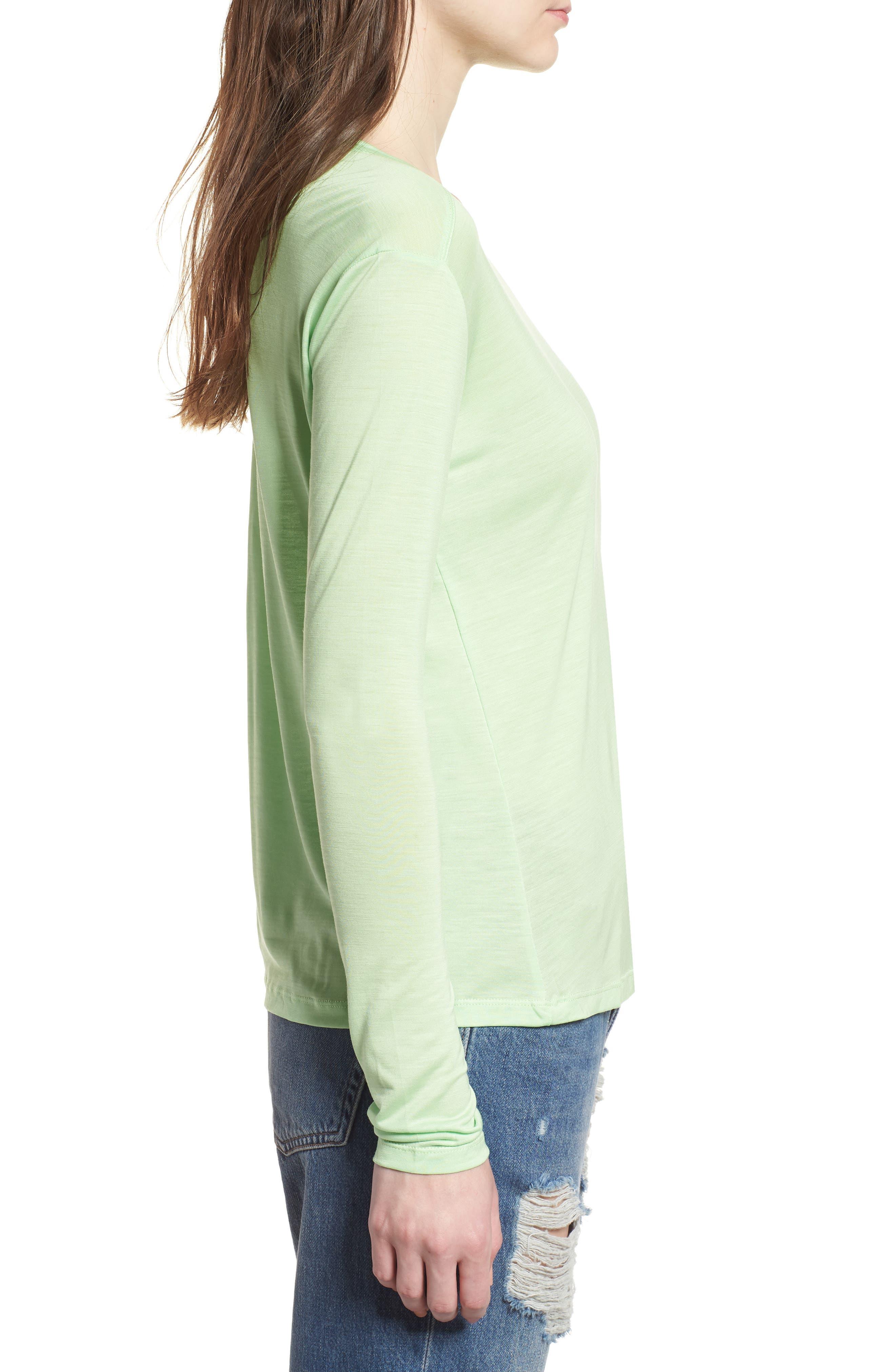 Lyocell Long Sleeve T-Shirt,                             Alternate thumbnail 7, color,