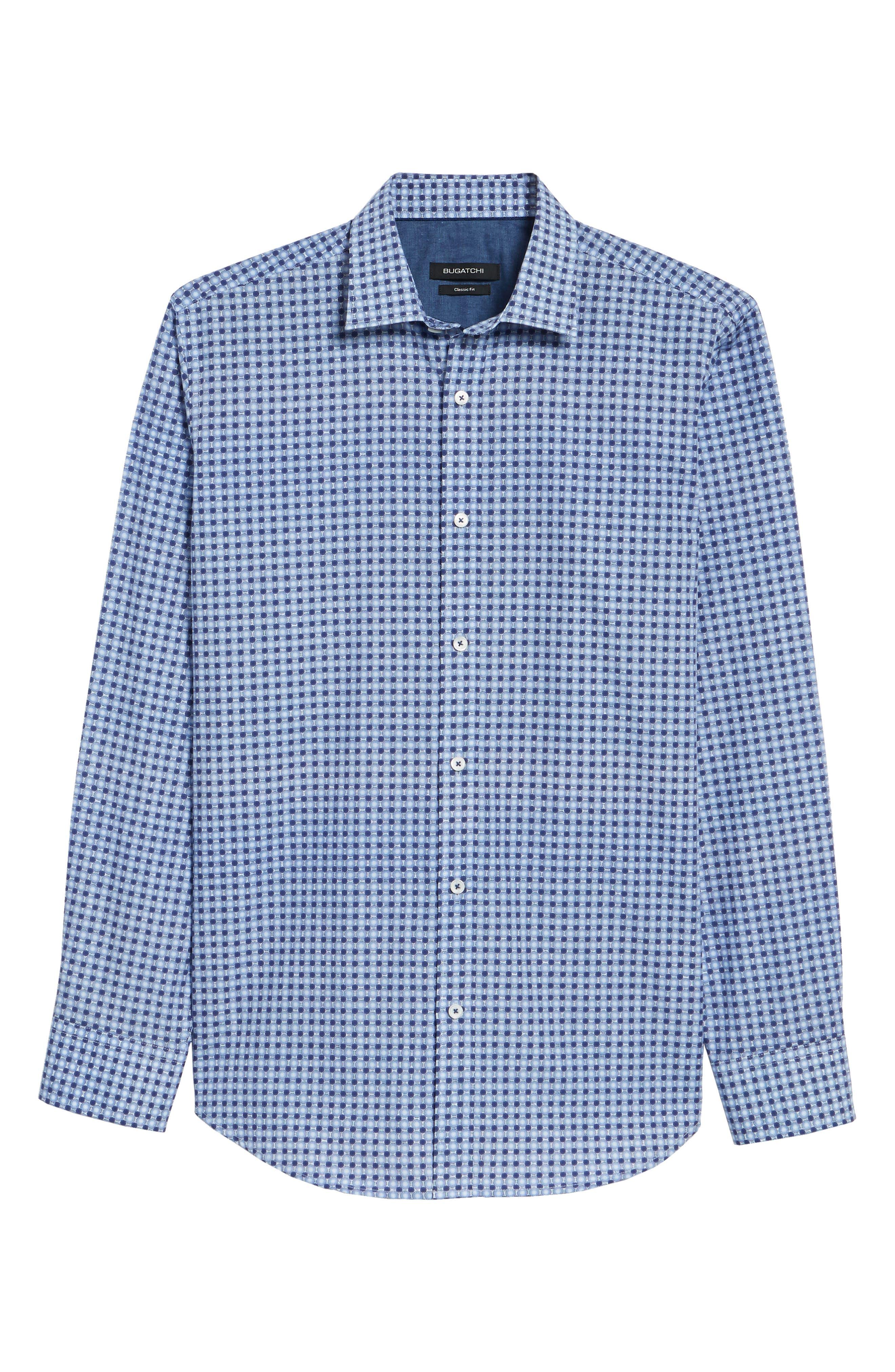 Classic Fit Woven Sport Shirt,                             Alternate thumbnail 6, color,                             411