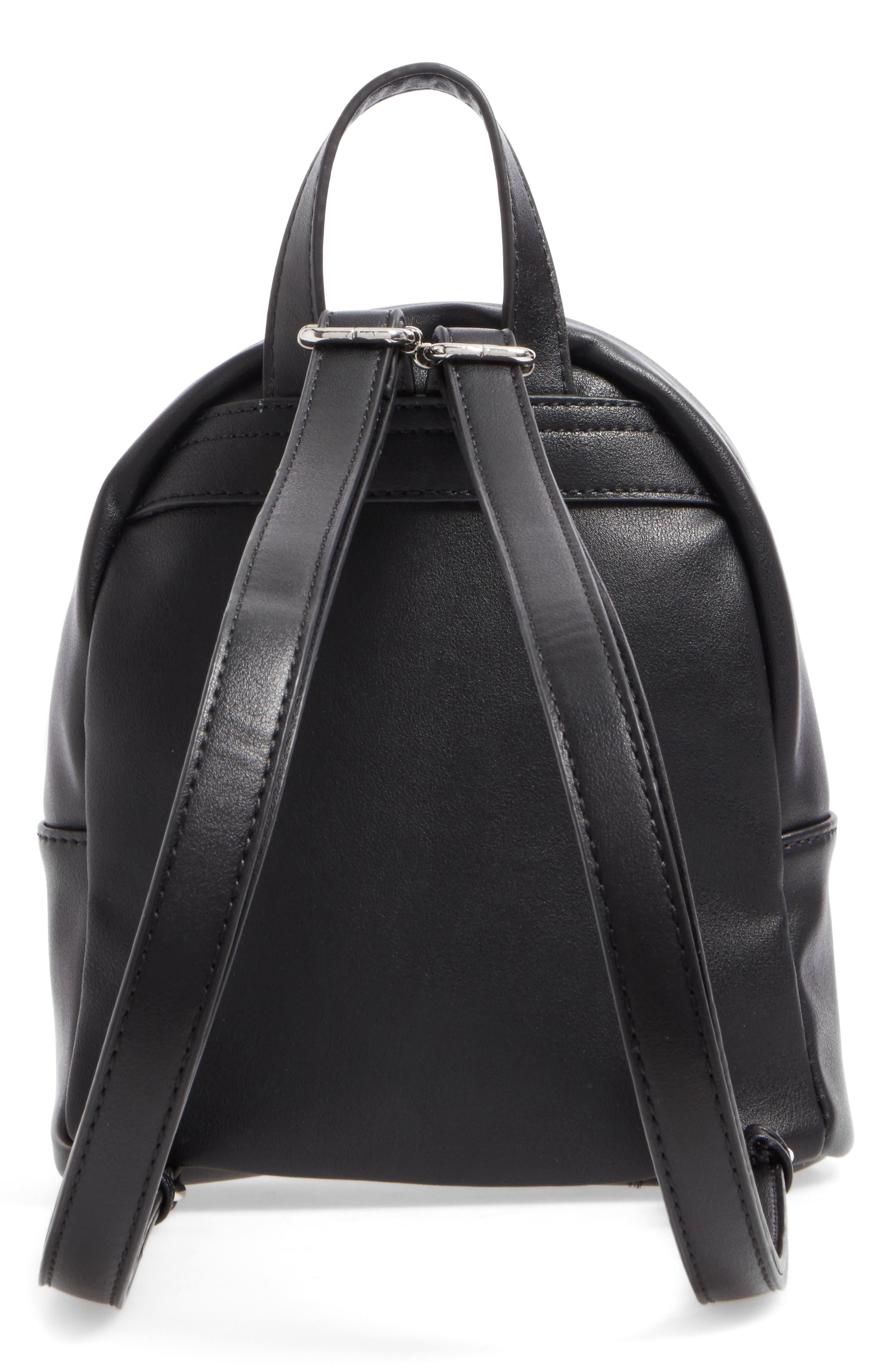 Faux Leather Mini Backpack,                             Alternate thumbnail 21, color,