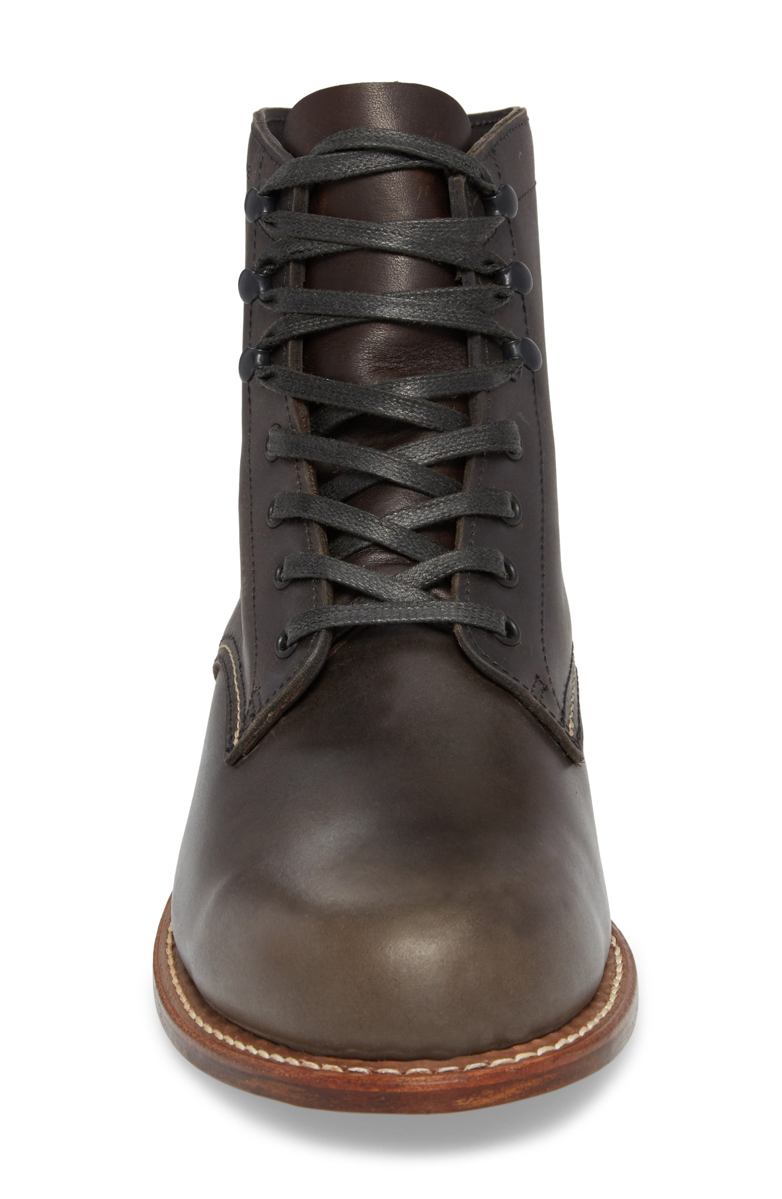 '1000 Mile' Plain Toe Boot,                             Alternate thumbnail 4, color,                             CHARCOAL