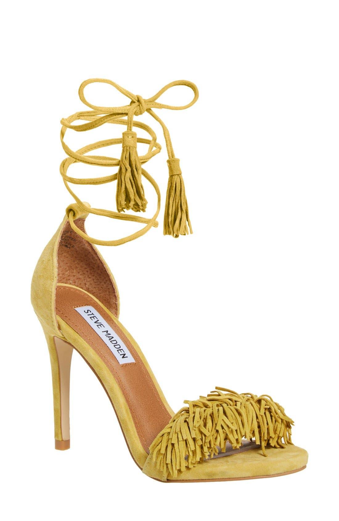 'Sassey' Fringe Sandal,                             Main thumbnail 3, color,