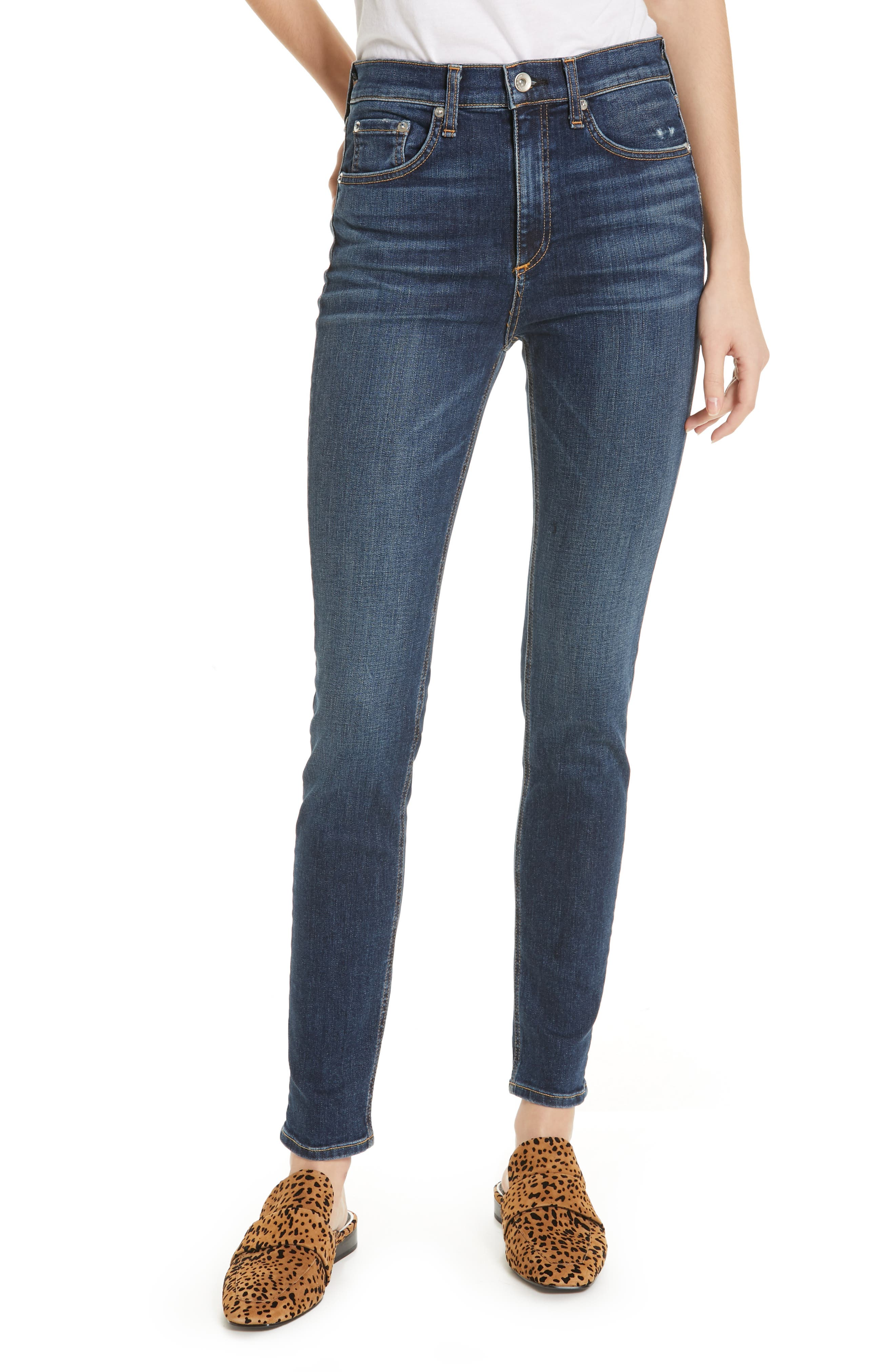Ripped High Waist Skinny Jeans,                         Main,                         color, ELTON