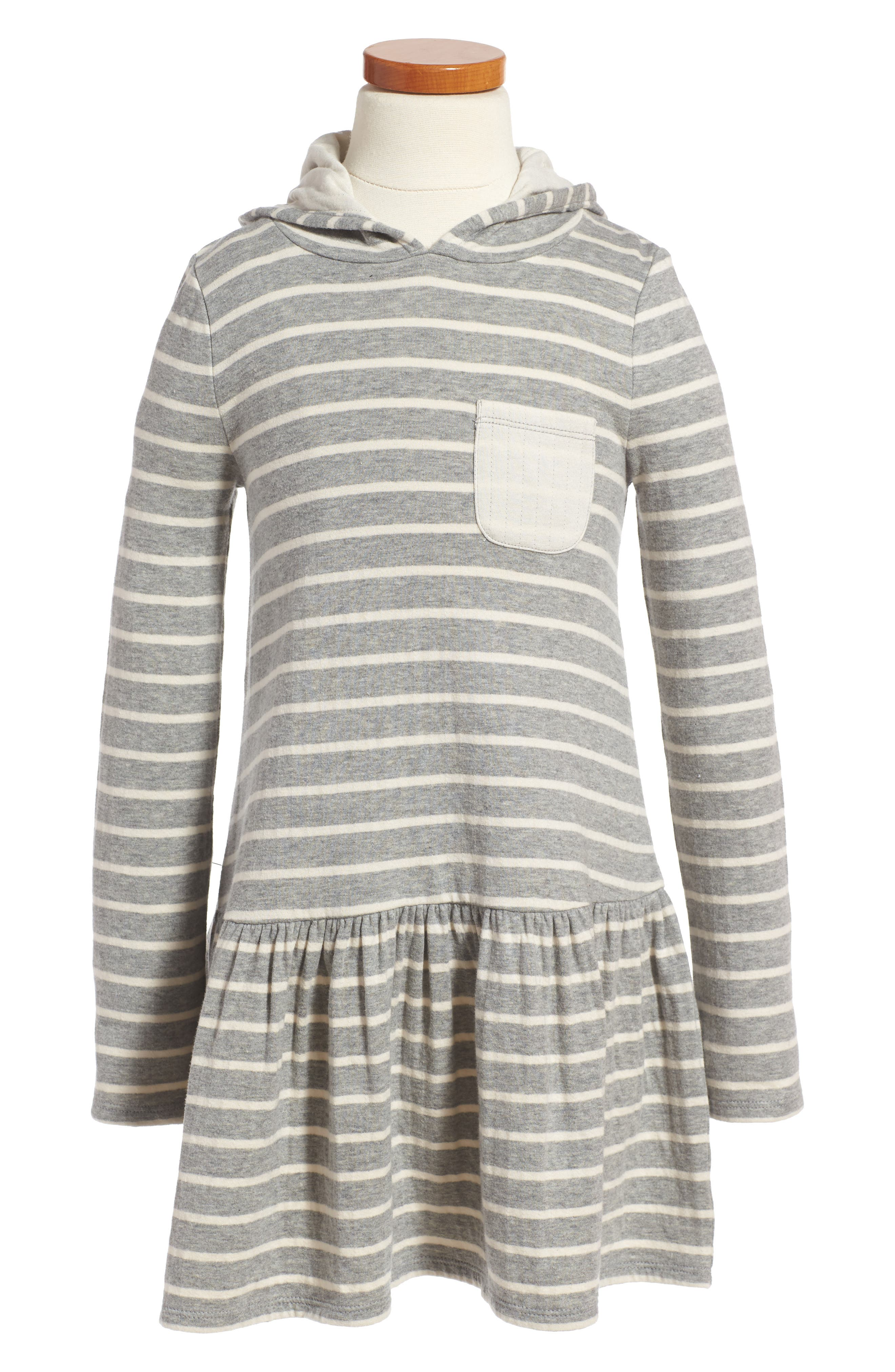 Stripe Hoodie Knit Dress,                             Main thumbnail 1, color,                             030