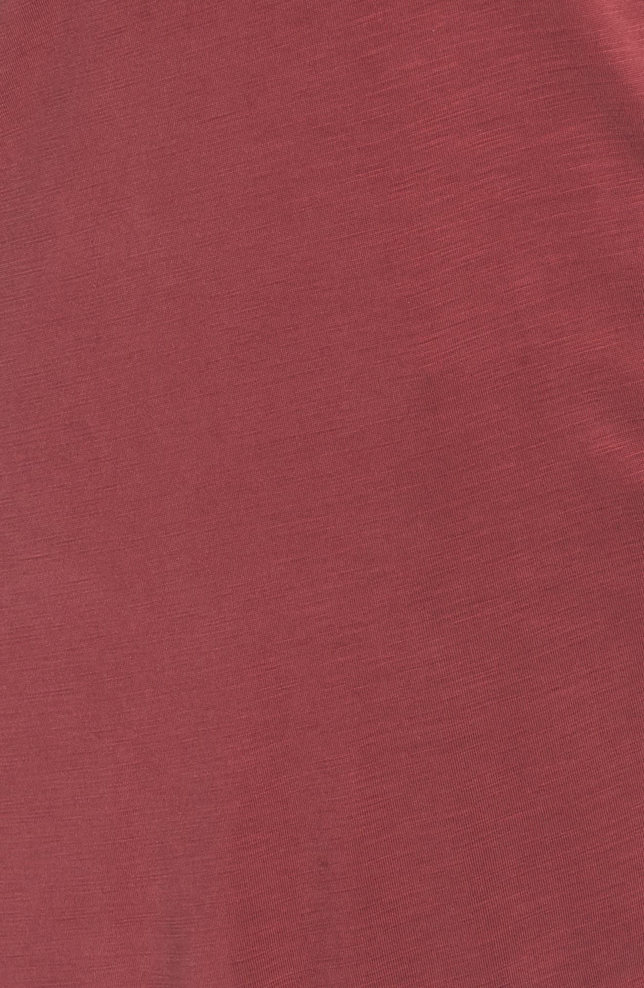 NIC+ZOE,                             Boardwalk Tee,                             Alternate thumbnail 5, color,                             WASHED RAISIN
