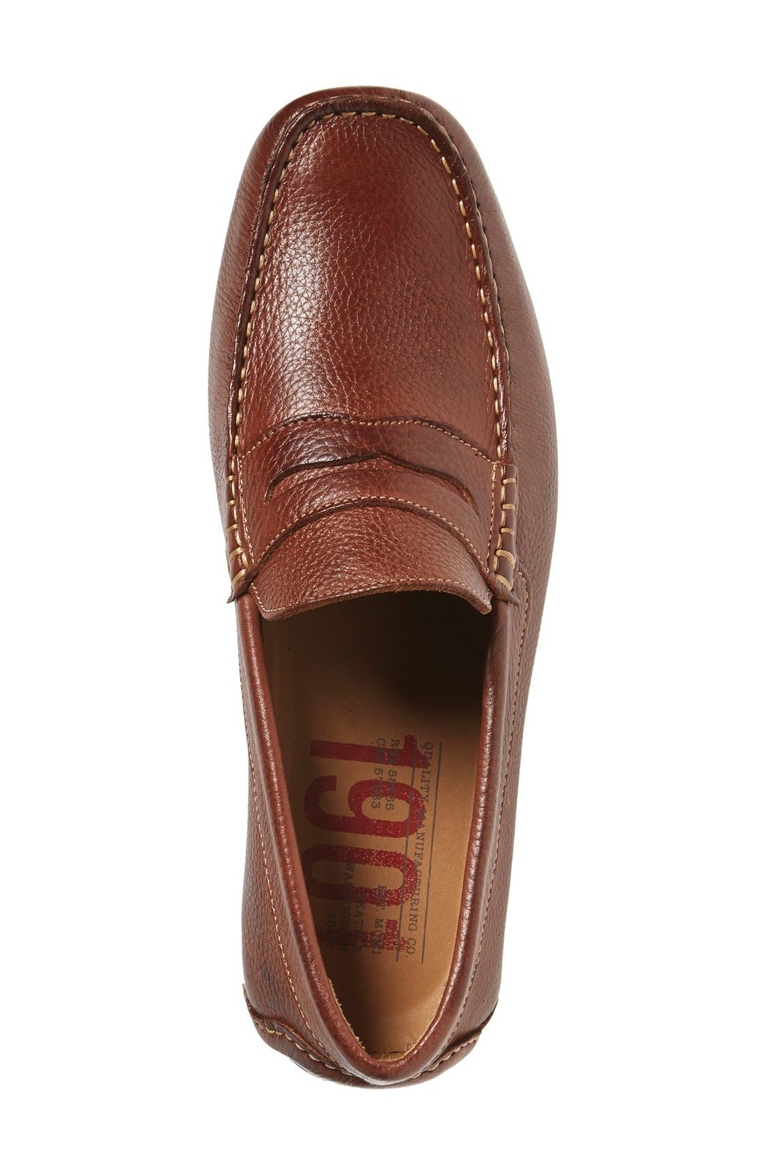 'Bermuda' Penny Loafer,                             Alternate thumbnail 3, color,                             TAN LEATHER