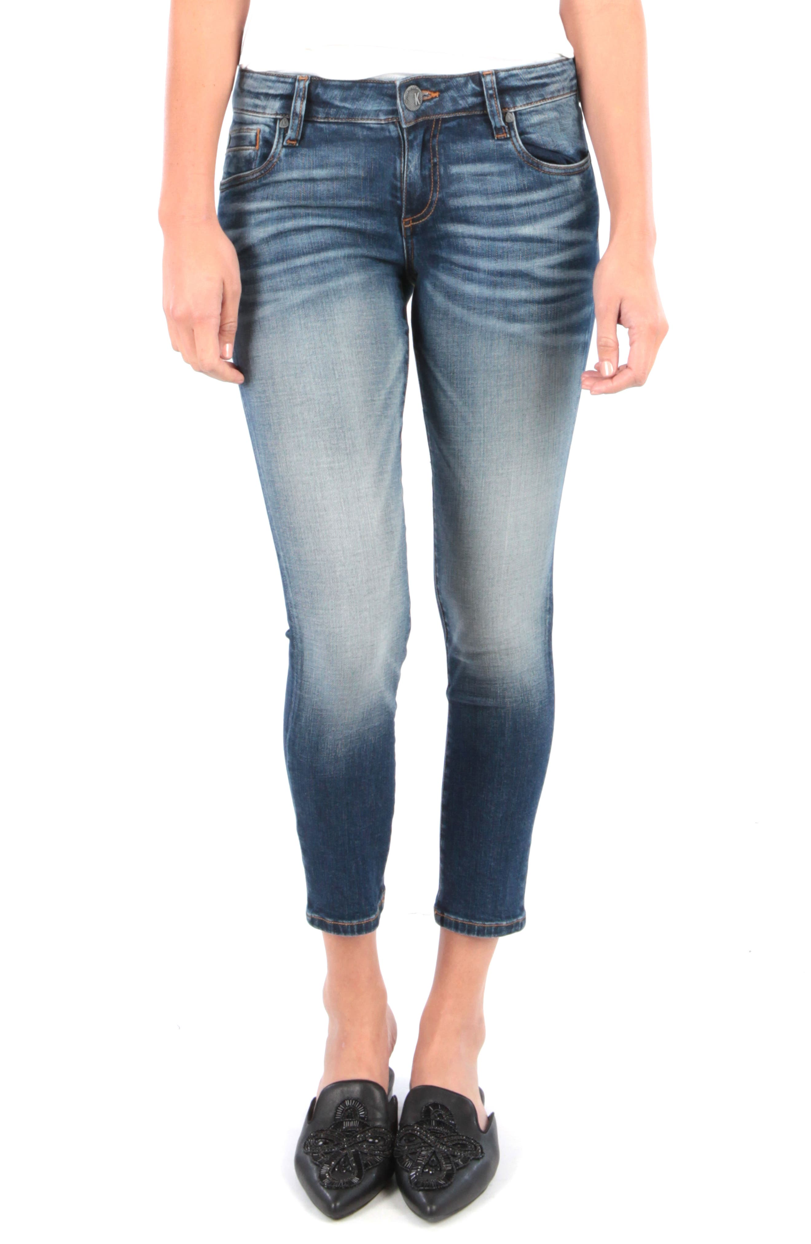 Kut From The Kloth Catherine Ankle Straight Leg Jeans, Blue