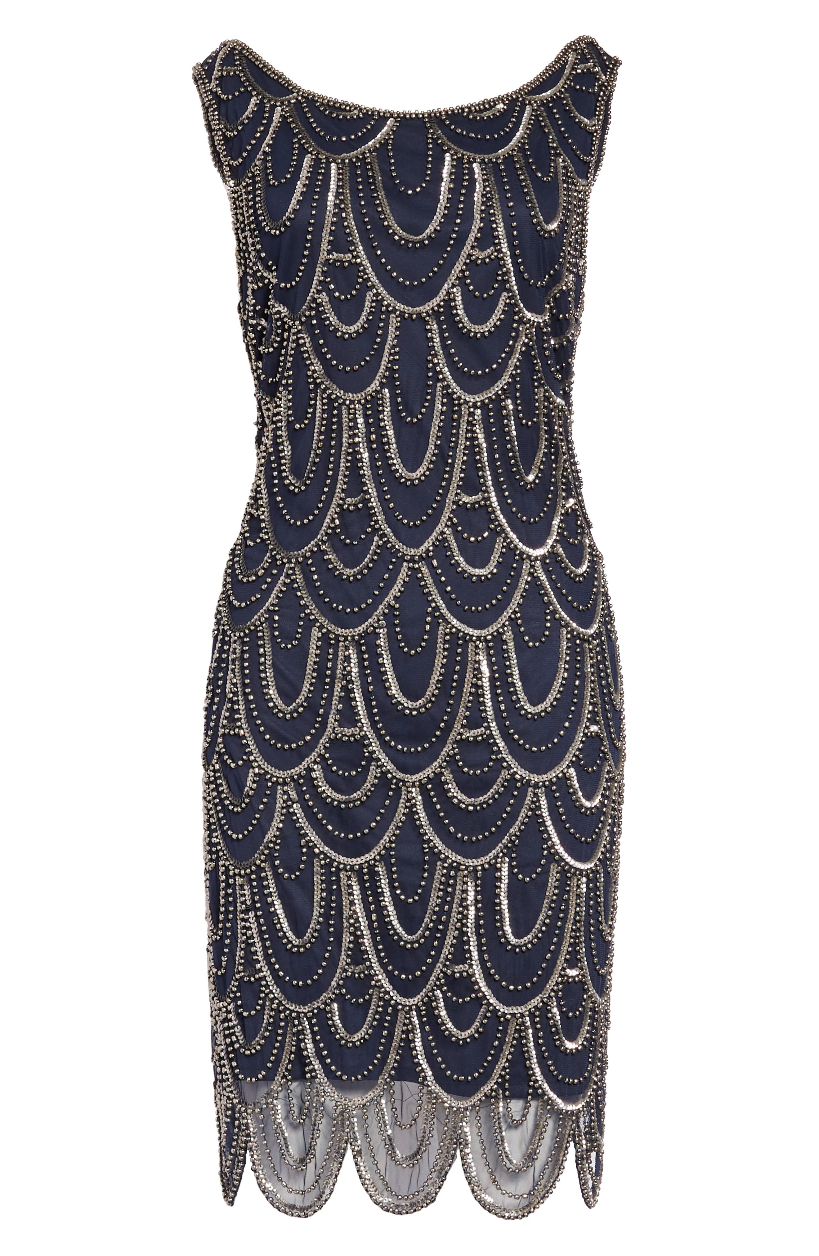 Embellished Mesh Sheath Dress,                             Alternate thumbnail 22, color,