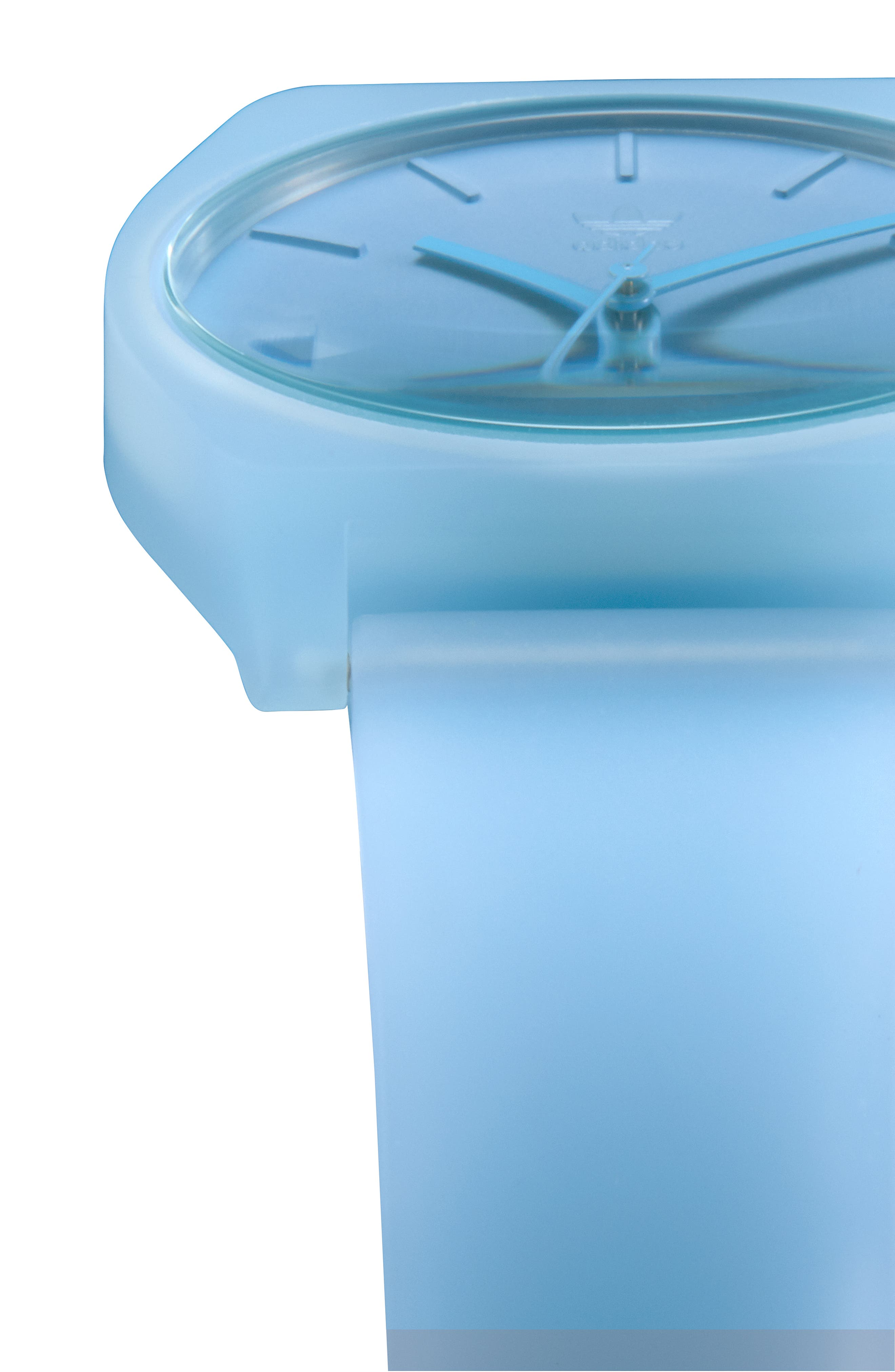 Process Silicone Strap Watch, 38mm,                             Alternate thumbnail 5, color,                             CLEAR BLUE