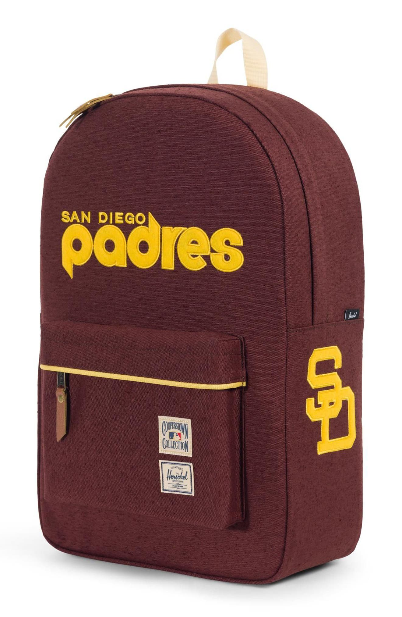 HERSCHEL SUPPLY CO.,                             Heritage - MLB Cooperstown Collection Backpack,                             Alternate thumbnail 4, color,                             SAN DIEGO PADRES