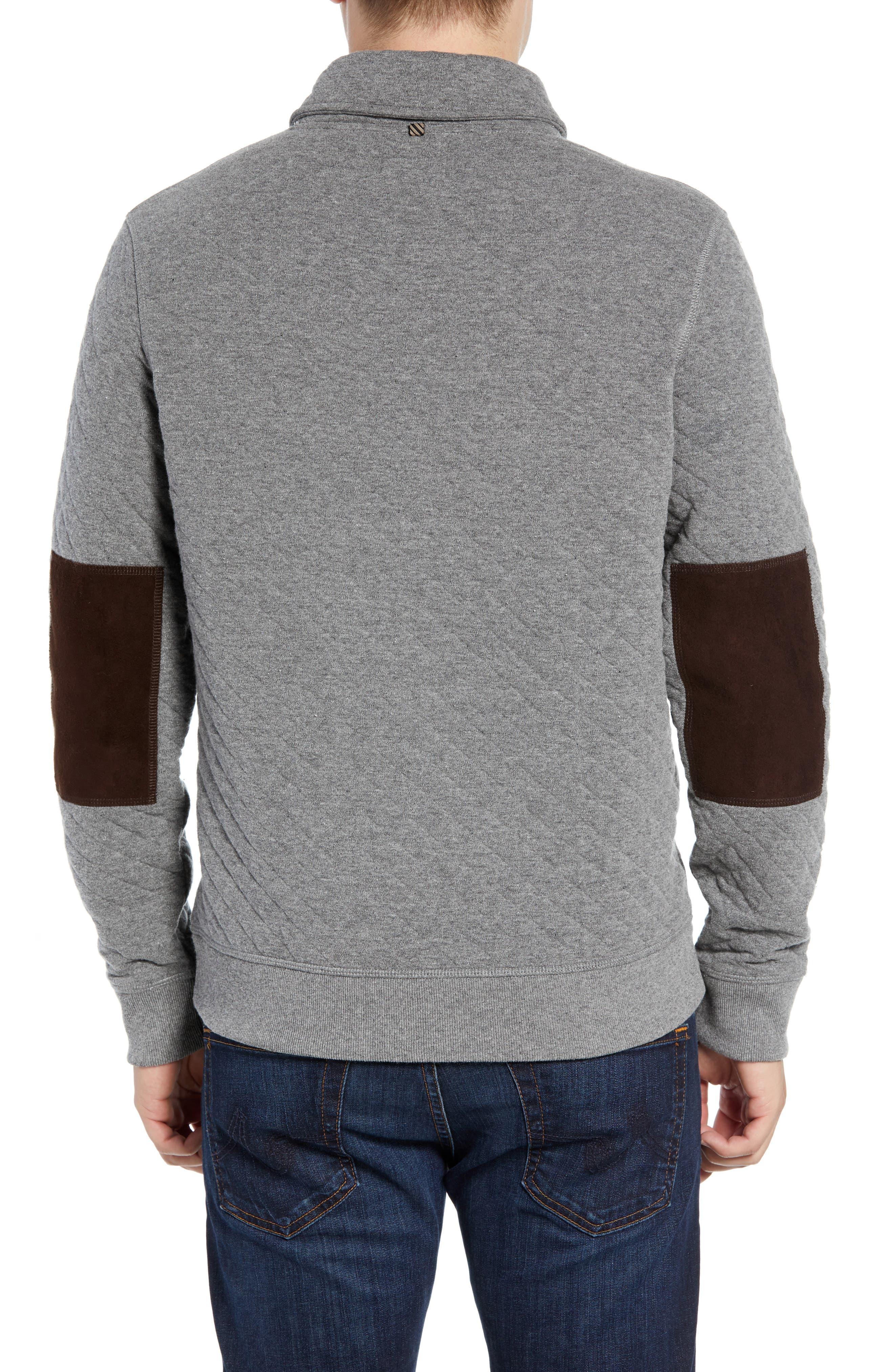 Shawl Collar Pullover,                             Alternate thumbnail 2, color,                             MEDIUM GREY