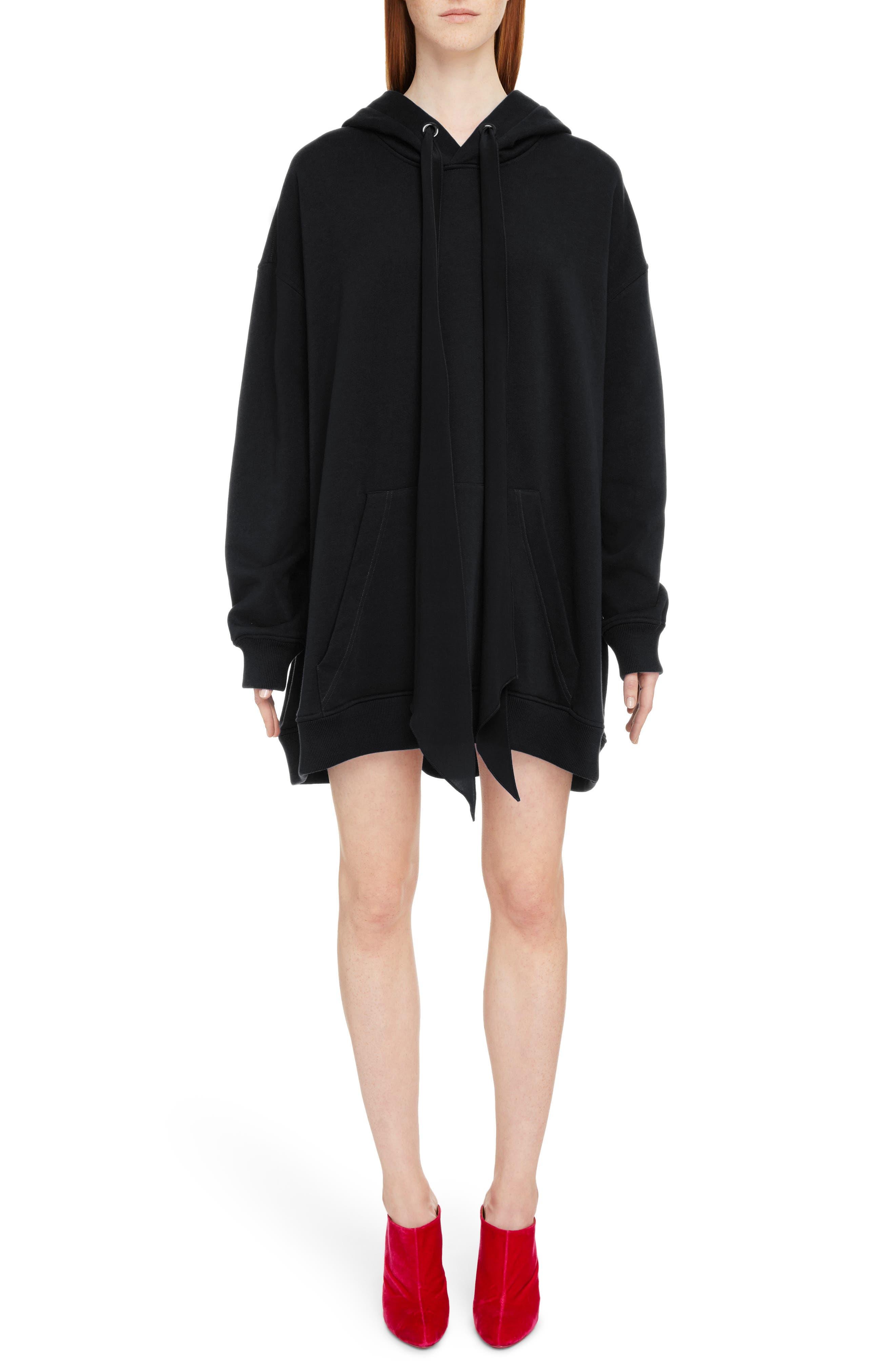 Oversize Logo Sweatshirt,                         Main,                         color, BLACK