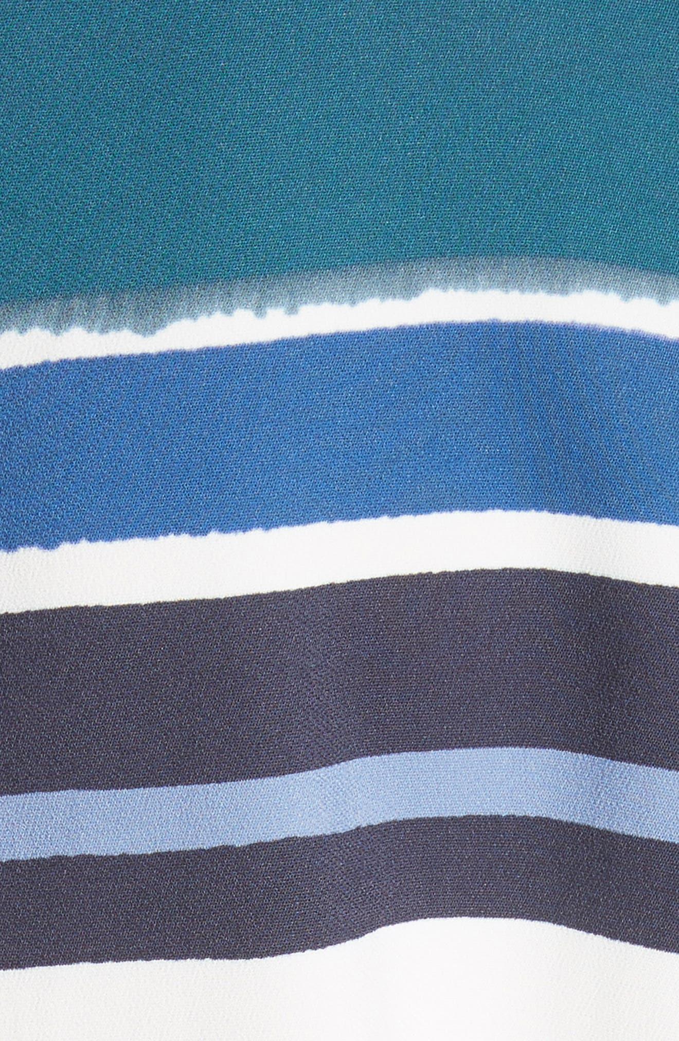 Lydia Stripe Dress,                             Alternate thumbnail 5, color,                             438