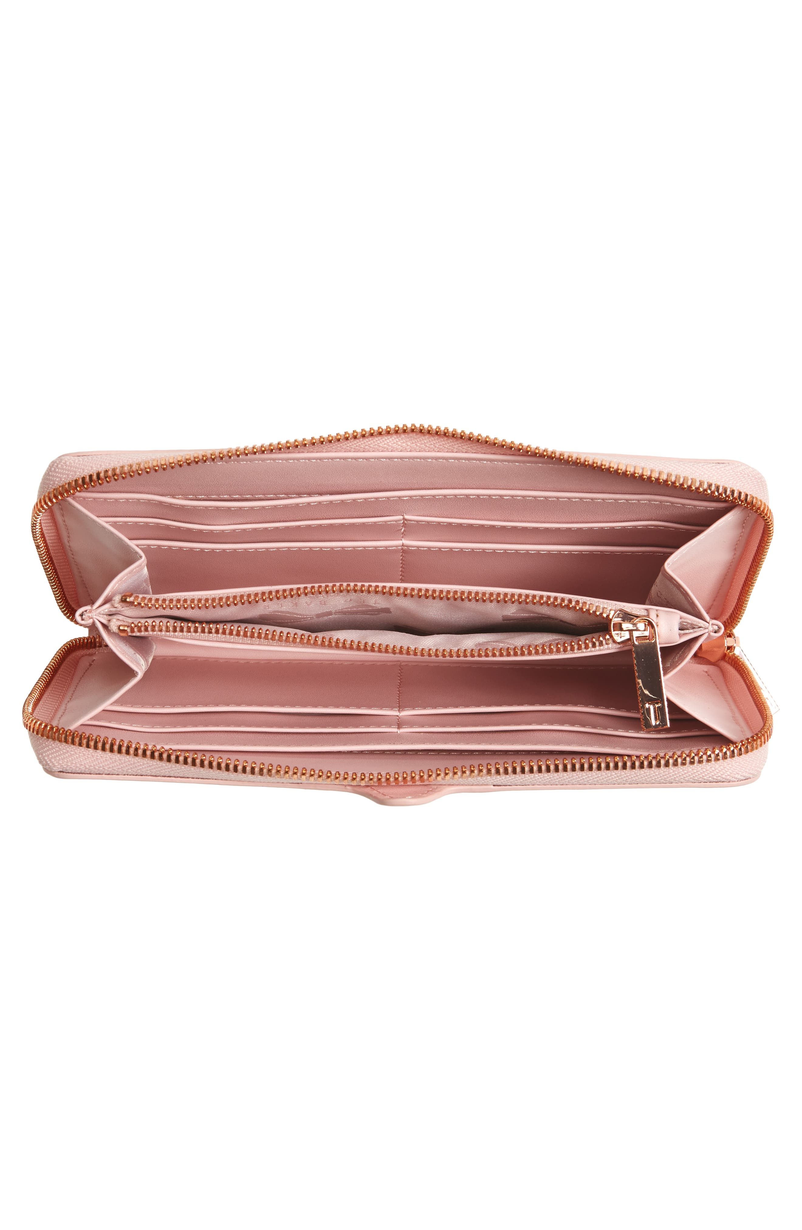 Carryn Matinée Leather Wallet,                             Alternate thumbnail 4, color,                             683