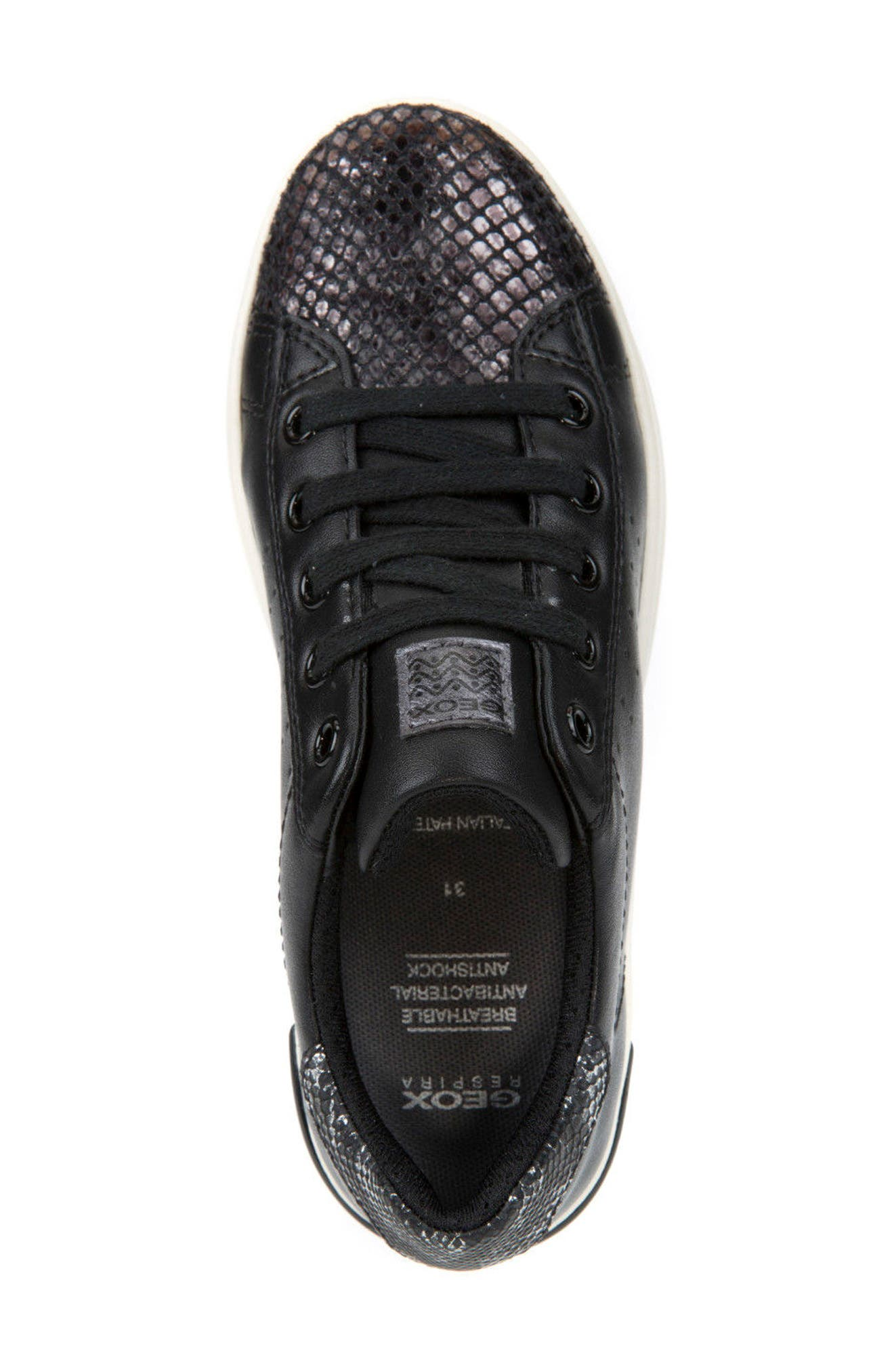 Cave Up Girl Low Top Sneaker,                             Alternate thumbnail 5, color,                             001