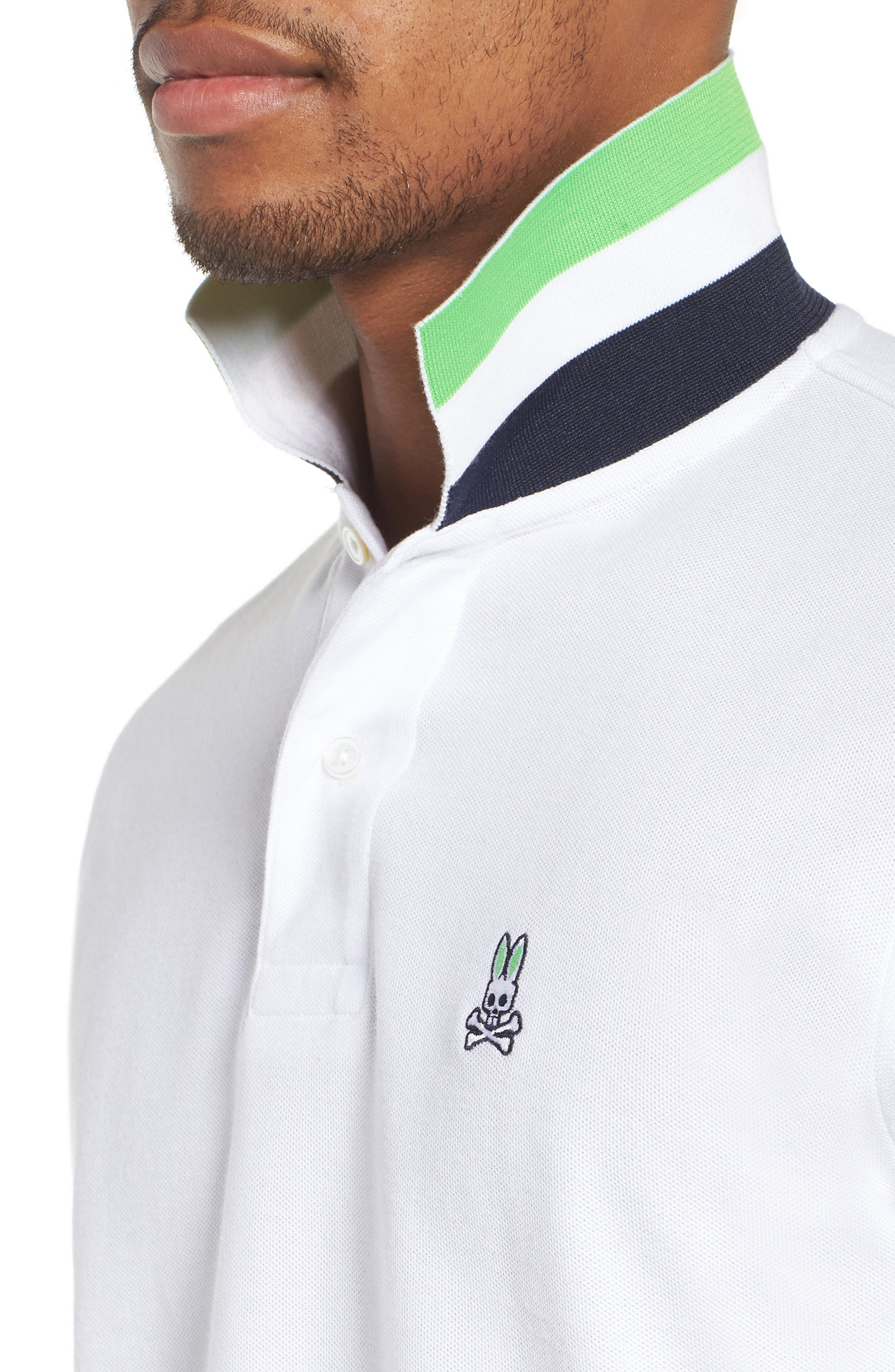 Classic Piqué Polo,                             Alternate thumbnail 4, color,                             WHITE