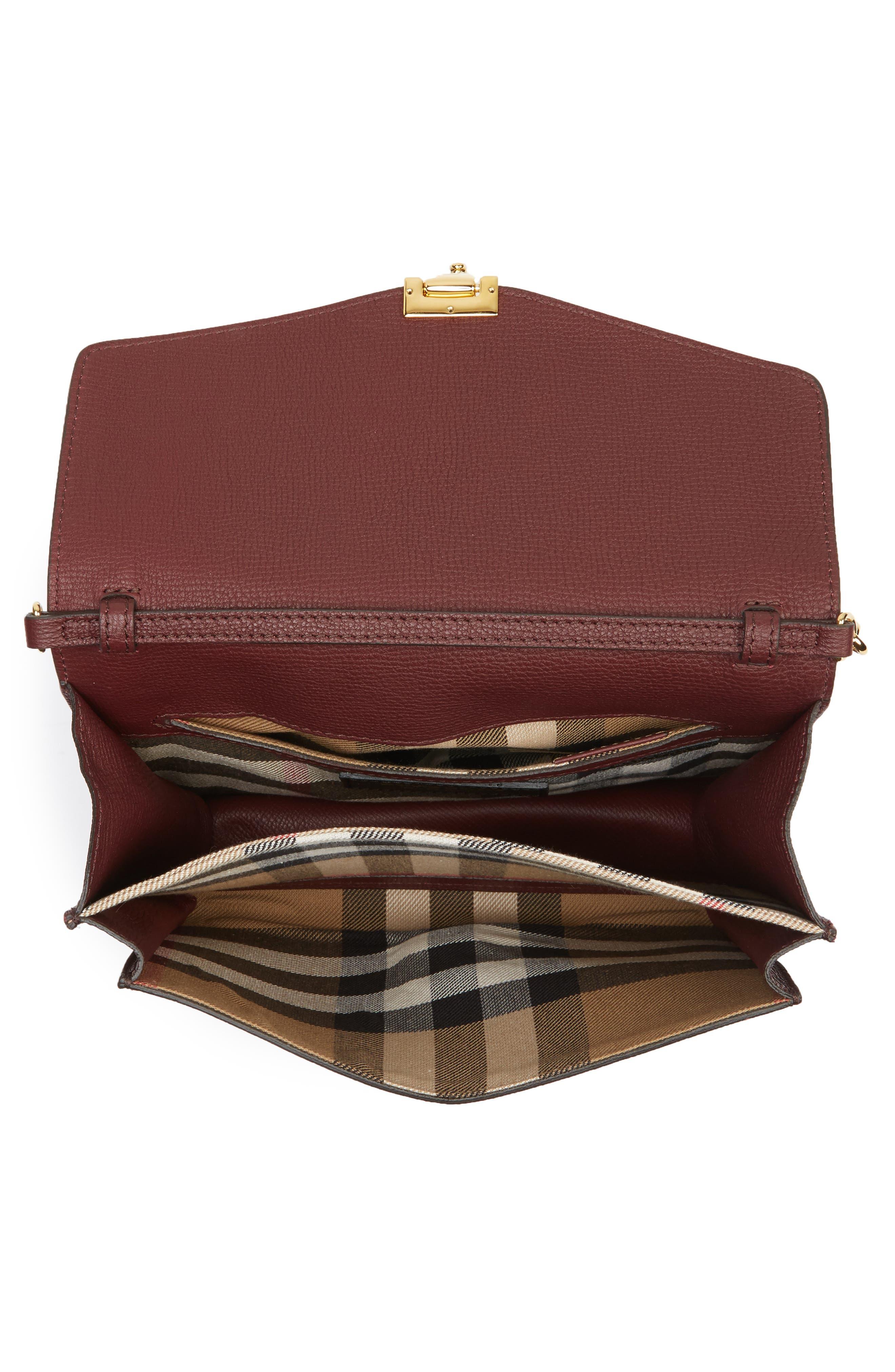 Macken Leather Derby Crossbody Bag,                             Alternate thumbnail 4, color,                             606