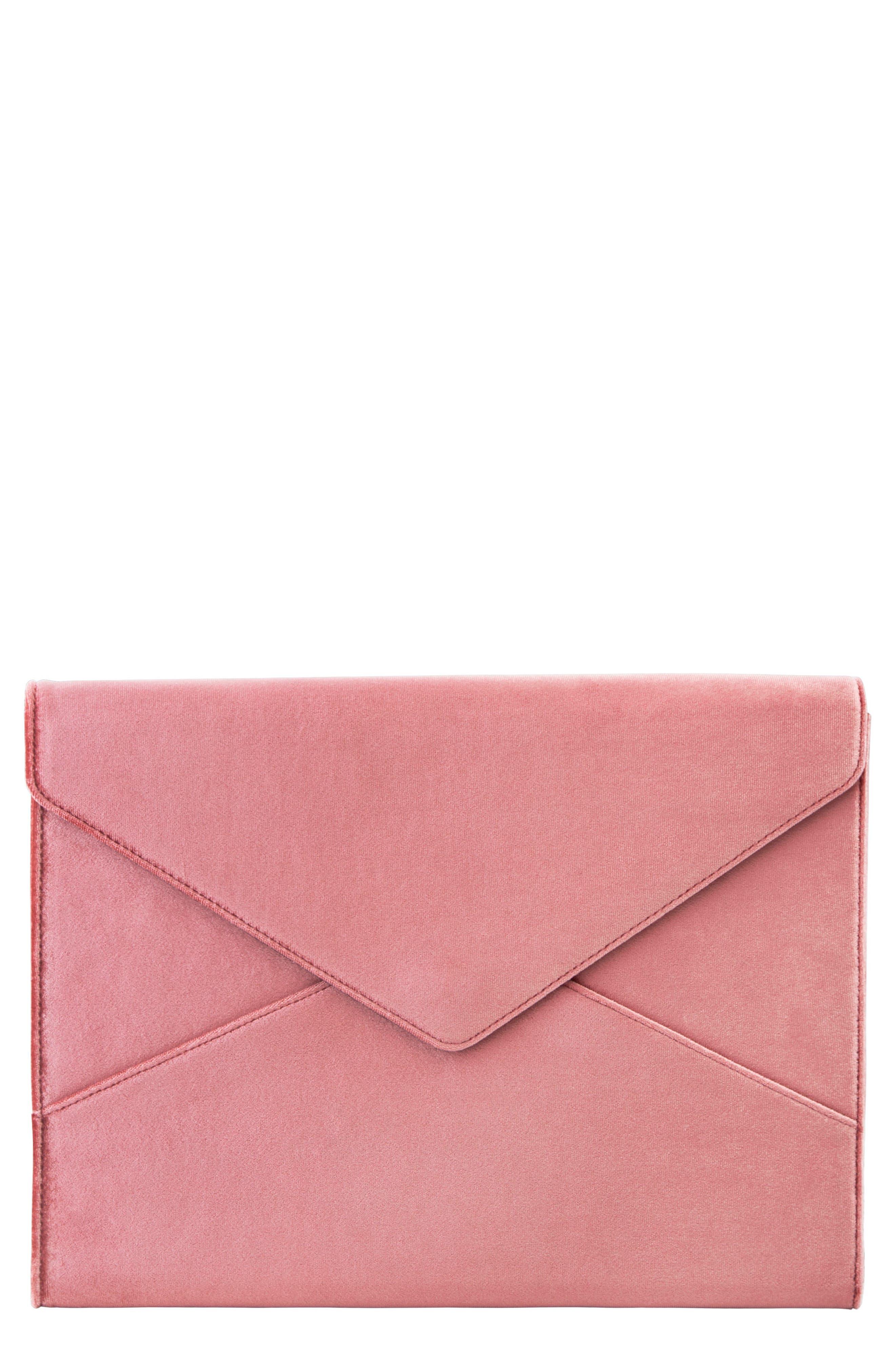 Rose Velvet Laptop Clutch,                             Main thumbnail 1, color,                             650