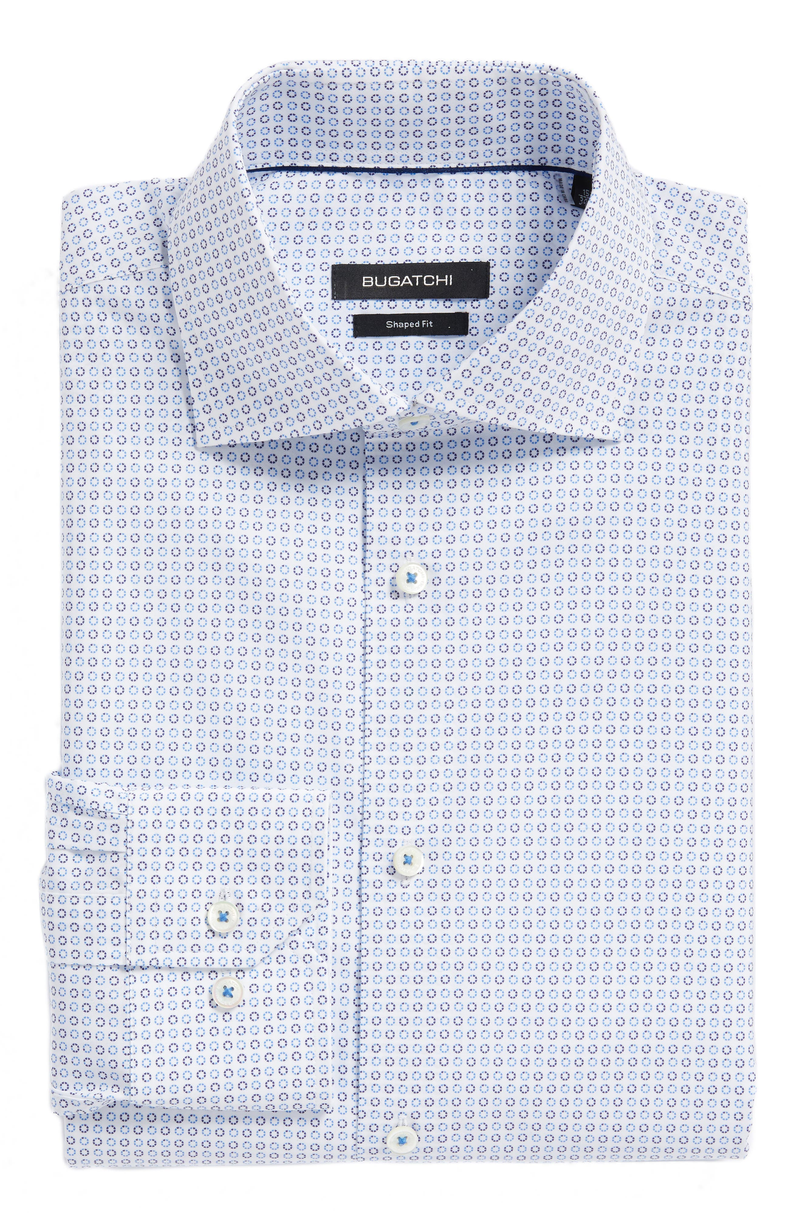 Trim Fit Dot Dress Shirt,                         Main,                         color,