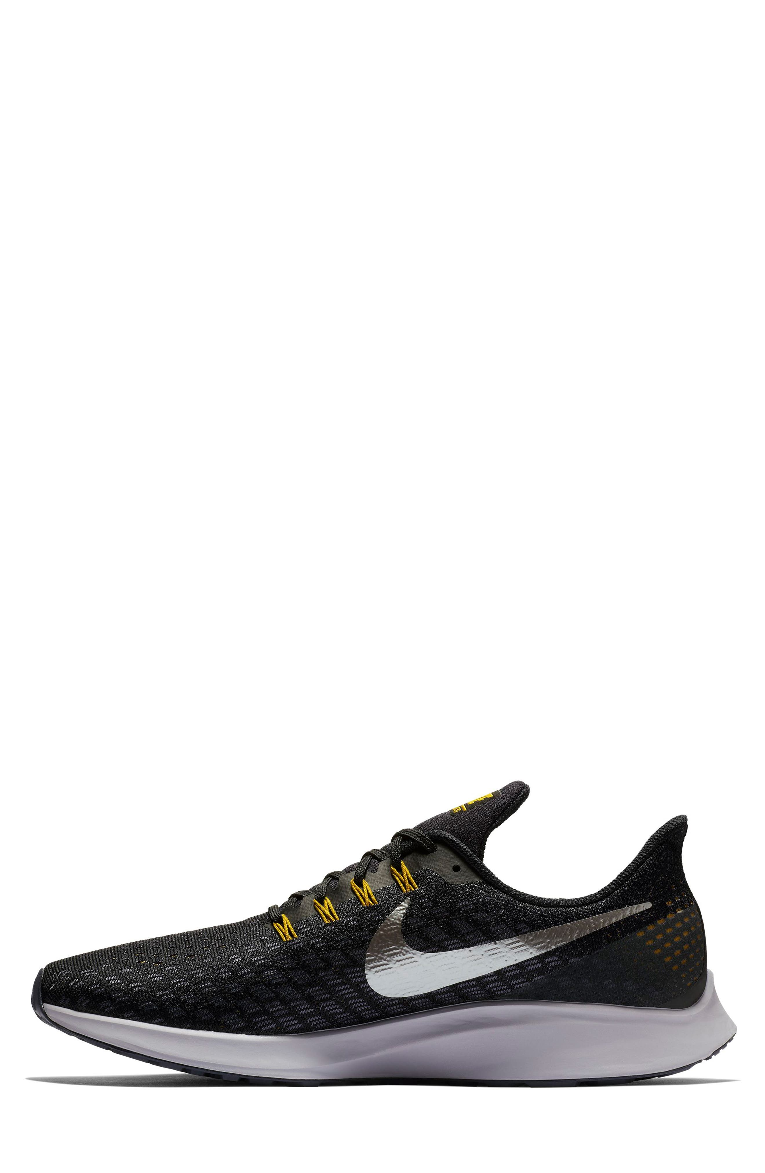 Air Zoom Pegasus 35 Running Shoe,                             Alternate thumbnail 7, color,                             BLACK/ PEWTER/ MOSS