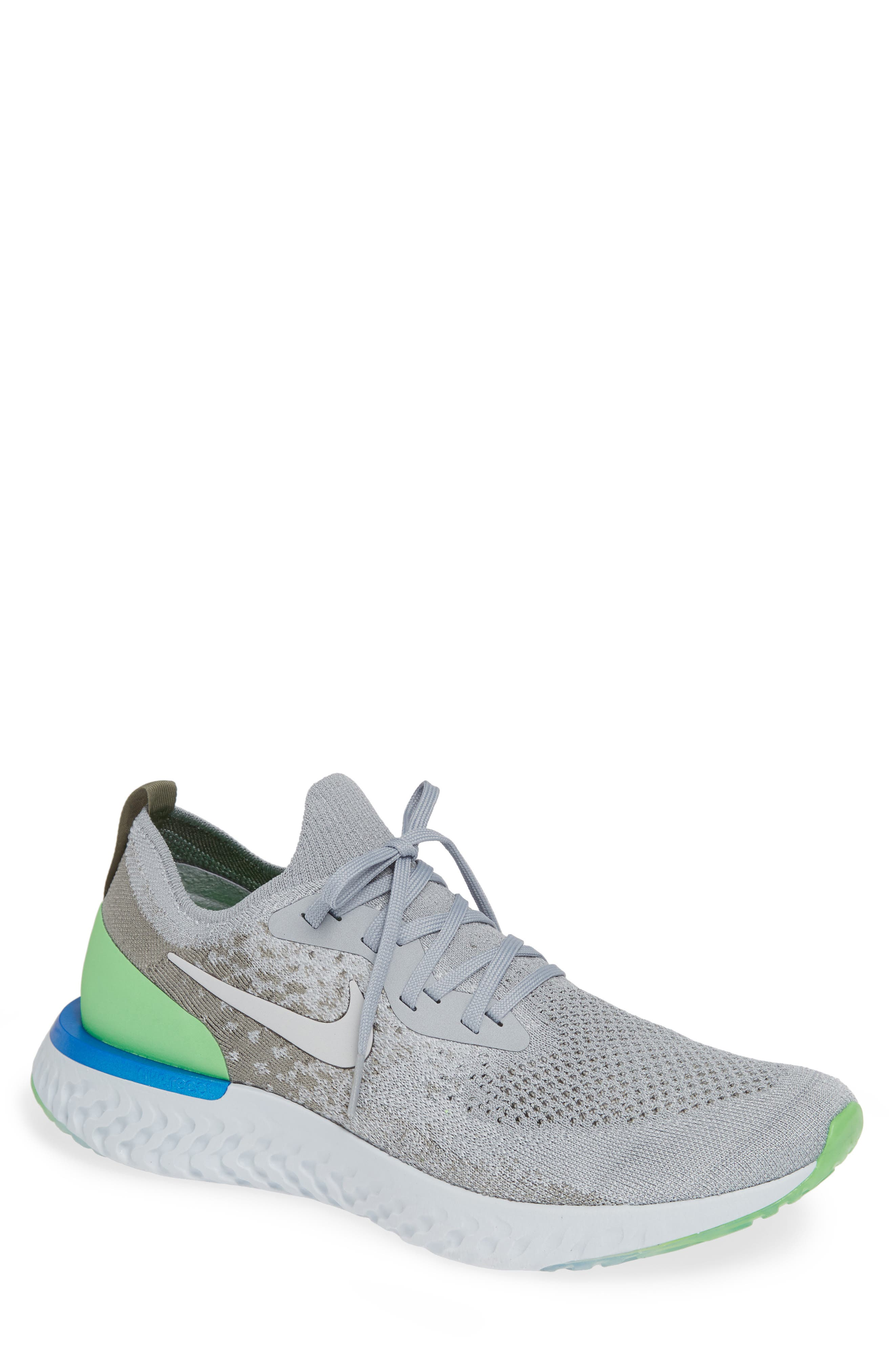 Epic React Flyknit Running Shoe,                         Main,                         color, GREY