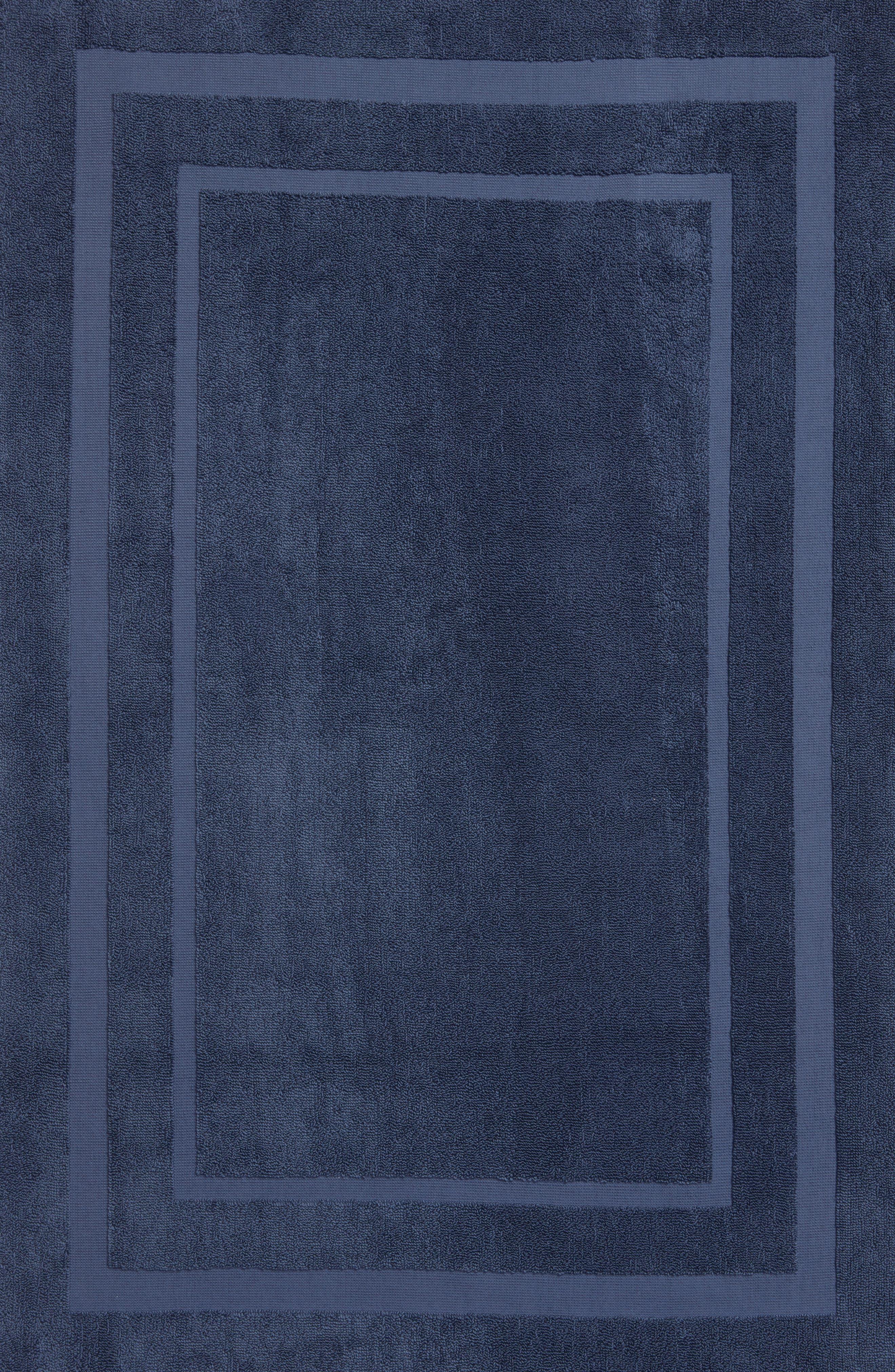 Studio 'Perennial' Turkish Cotton Bath Mat,                             Alternate thumbnail 2, color,                             INDIGO BLUE