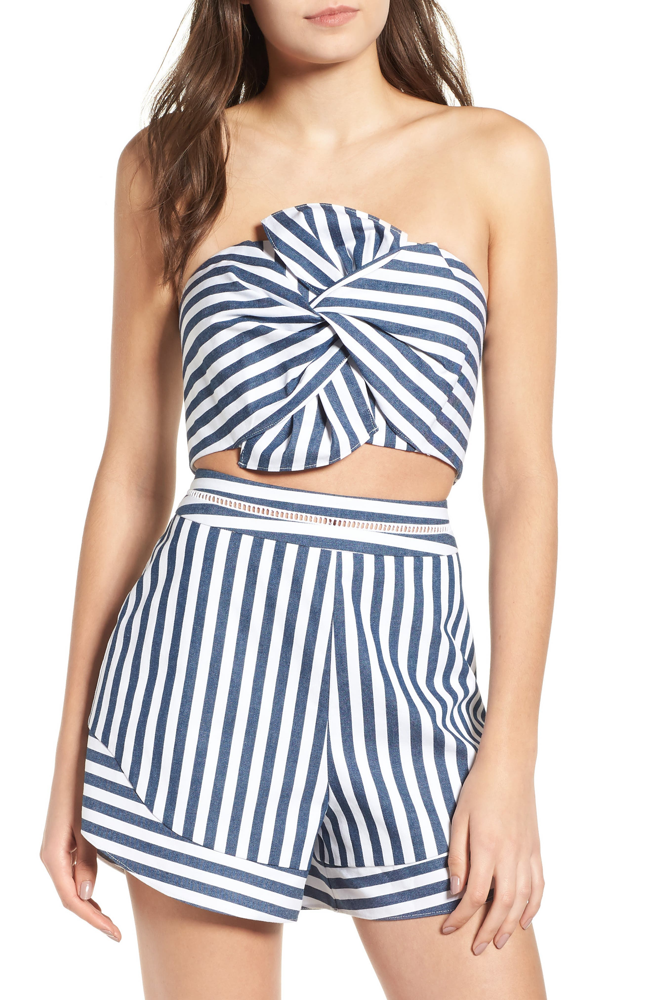 Durham Knotted Bow Tube Top,                         Main,                         color, 400